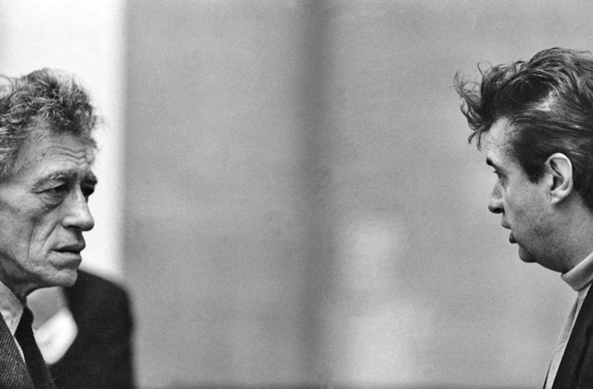 Alberto Giacometti and Francis Bacon Photo: Graham Keen