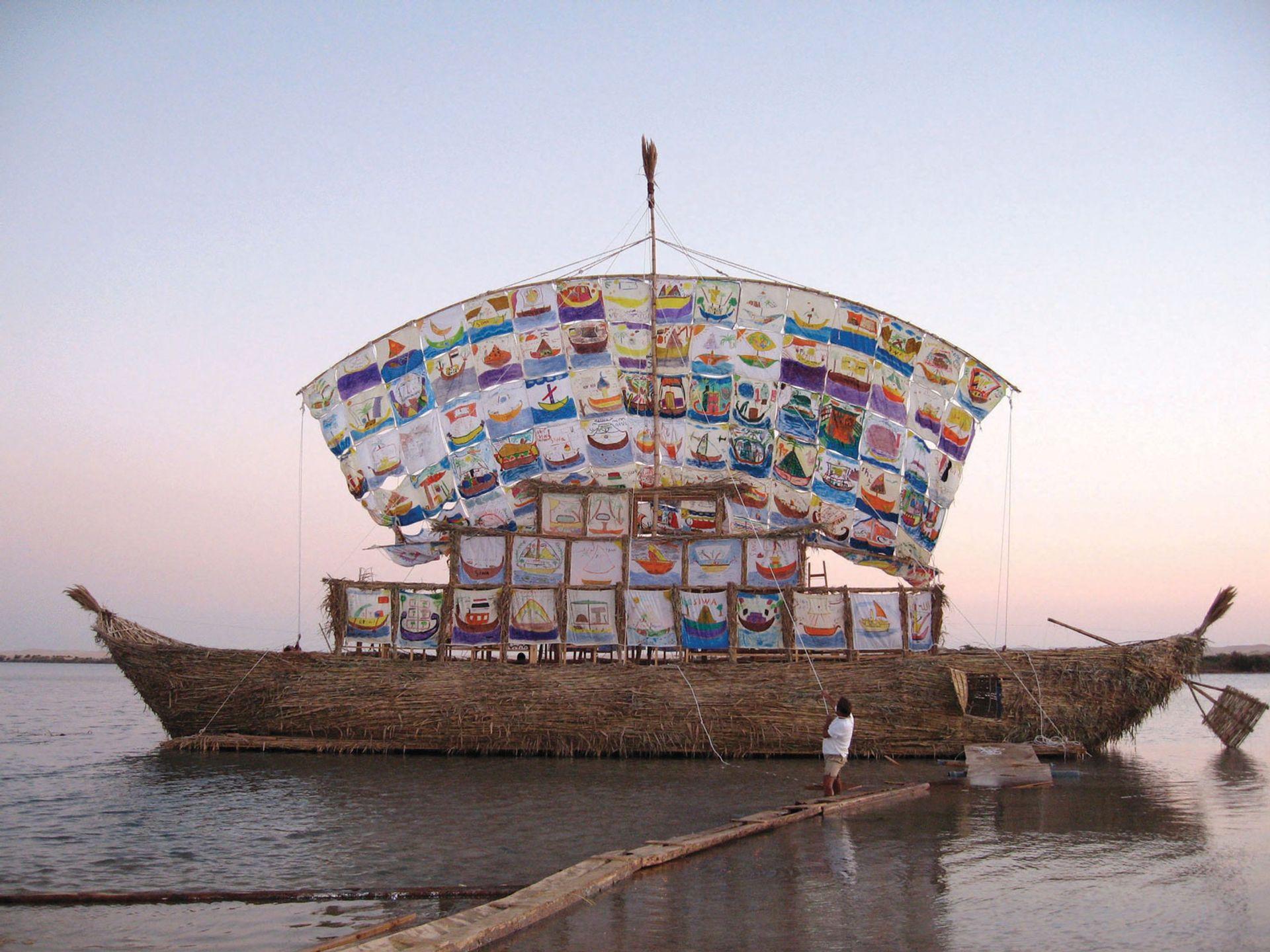 Ilya and Emilia Kabakov's The Ship of Tolerance in Siwa Oasis, Egypt, in 2005 Courtesy of the Ilya and Emilia Kabakov Foundation; Jenia Fridlyand