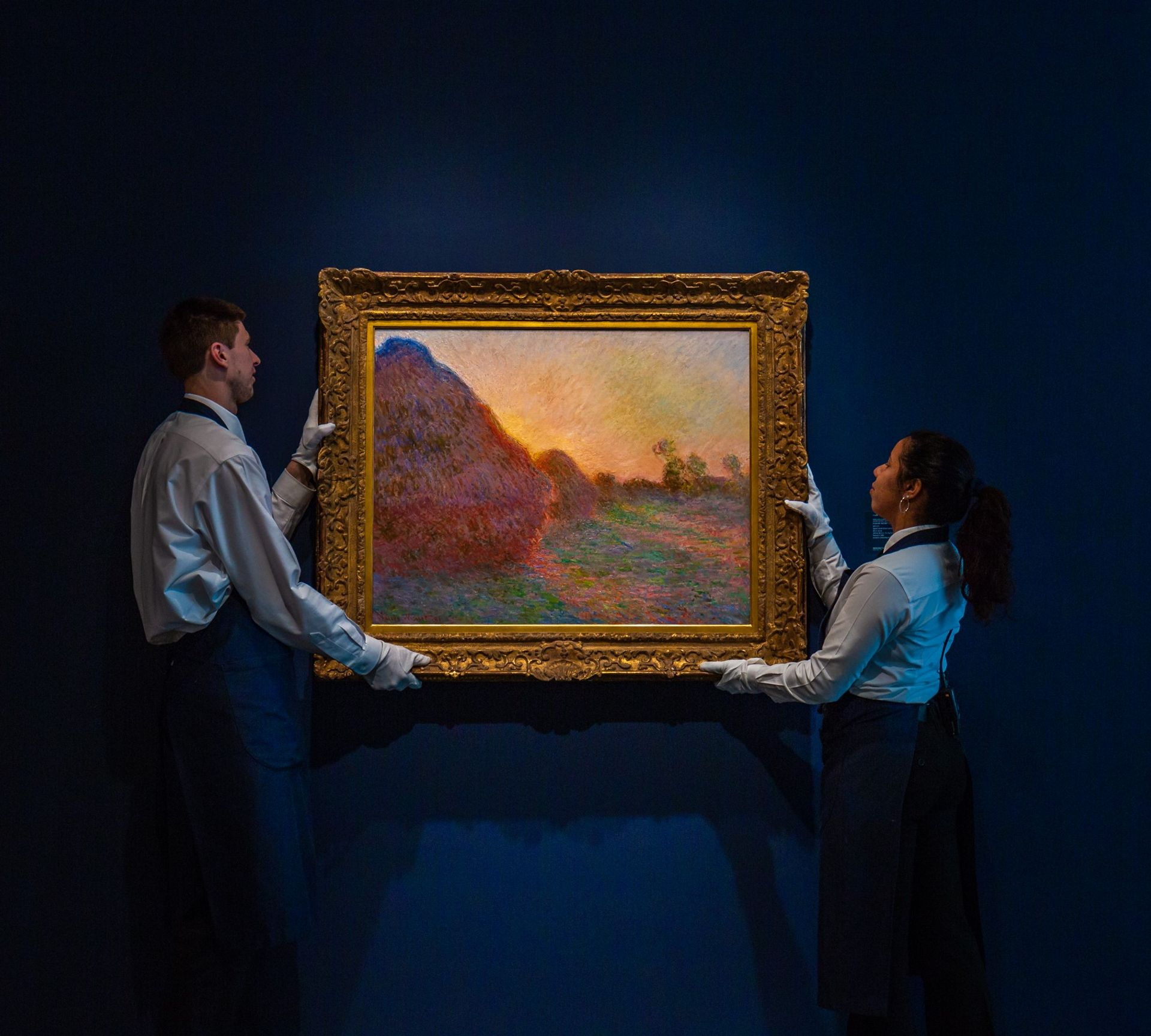 Monet's Meules (1890) set a new world record for the Impressionist artist when it sold for $110m at Sotheby's in New York Sotheby's