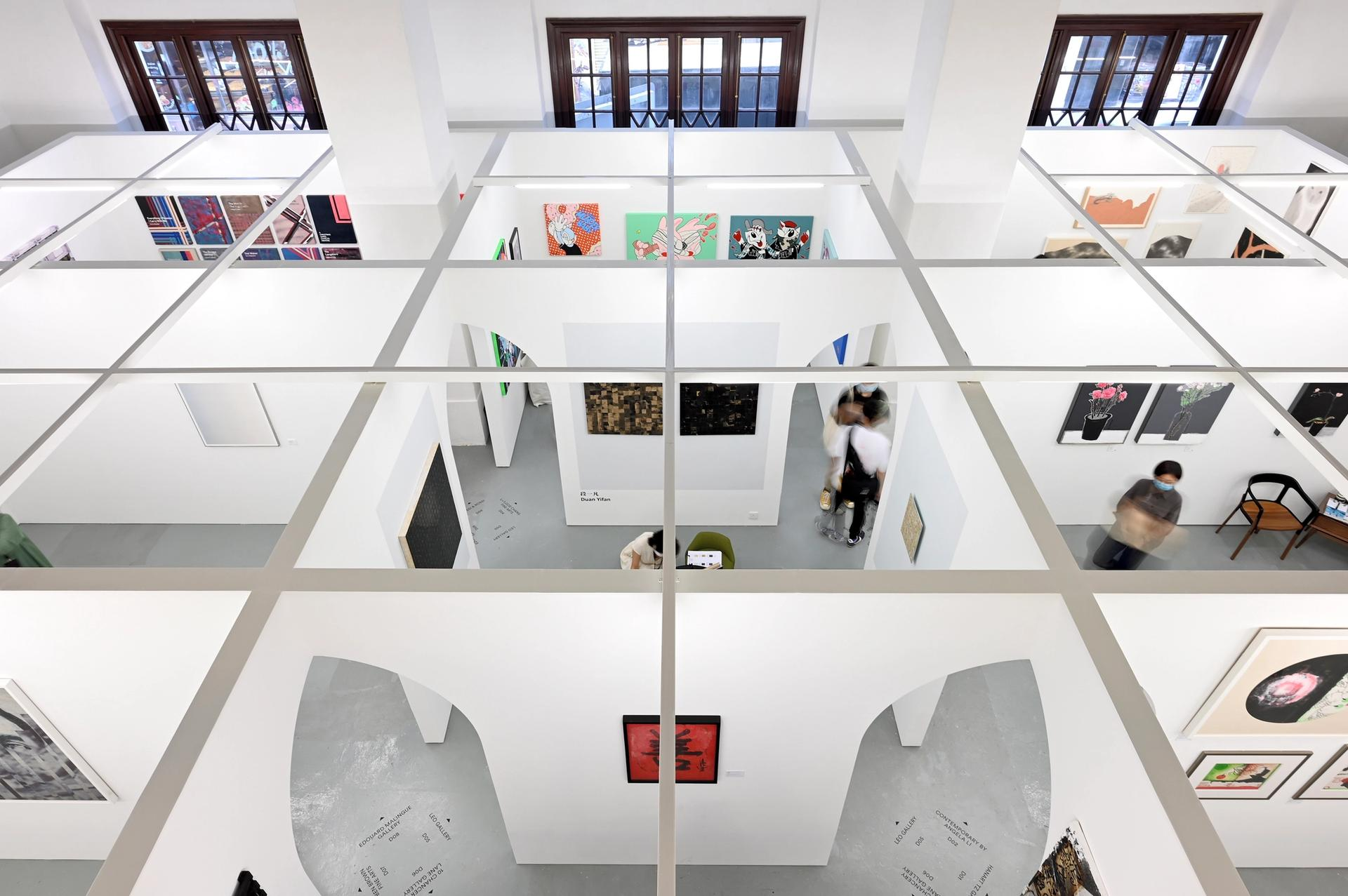 The Unscheduled fair, organised by the Hong Kong Art Gallery Association, has 12 exhibitors Photo © HKAGA (Felix SC Wong)