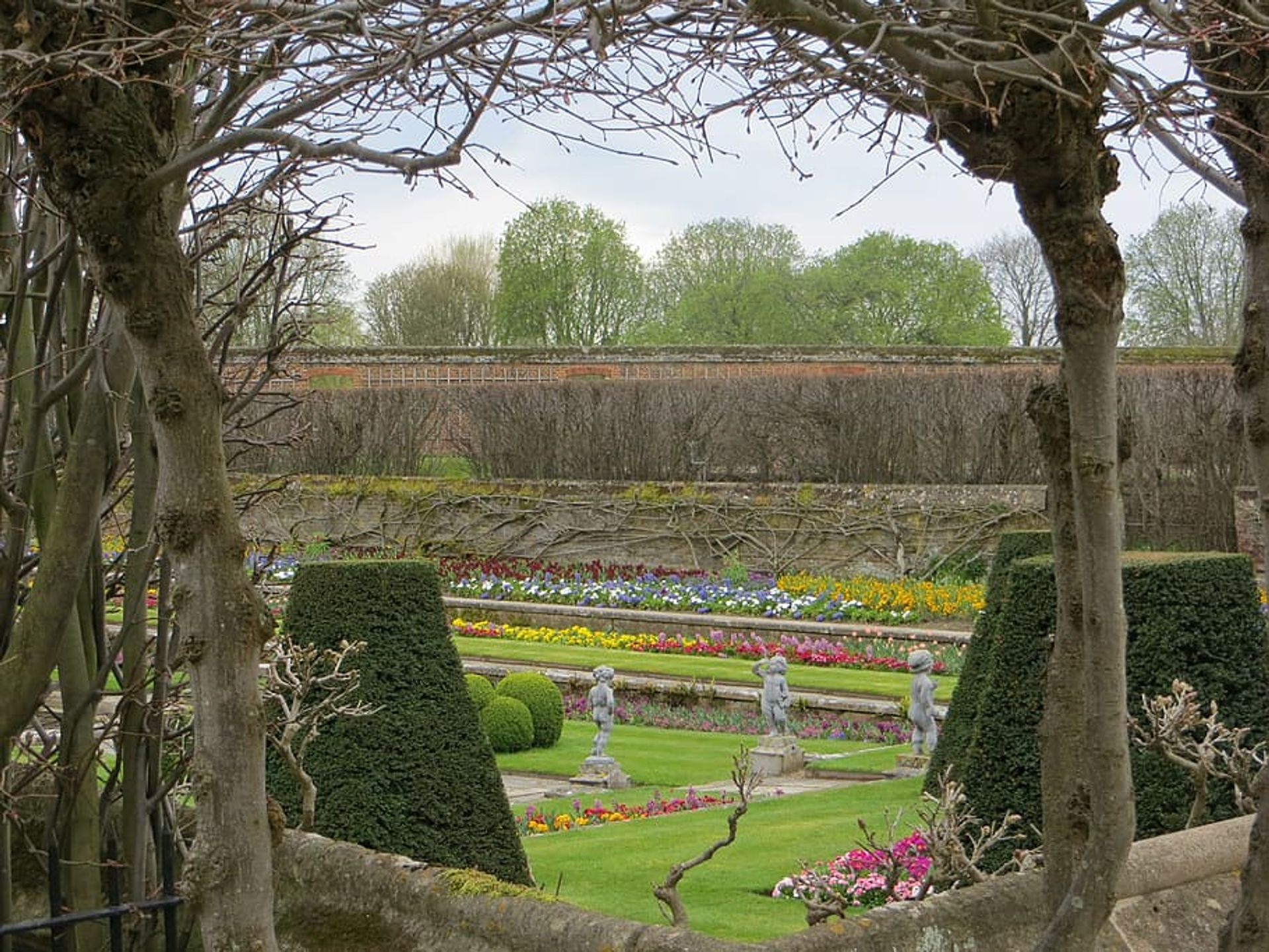 The reopening of the gardens at Hampton Court helped boost visitor numbers
