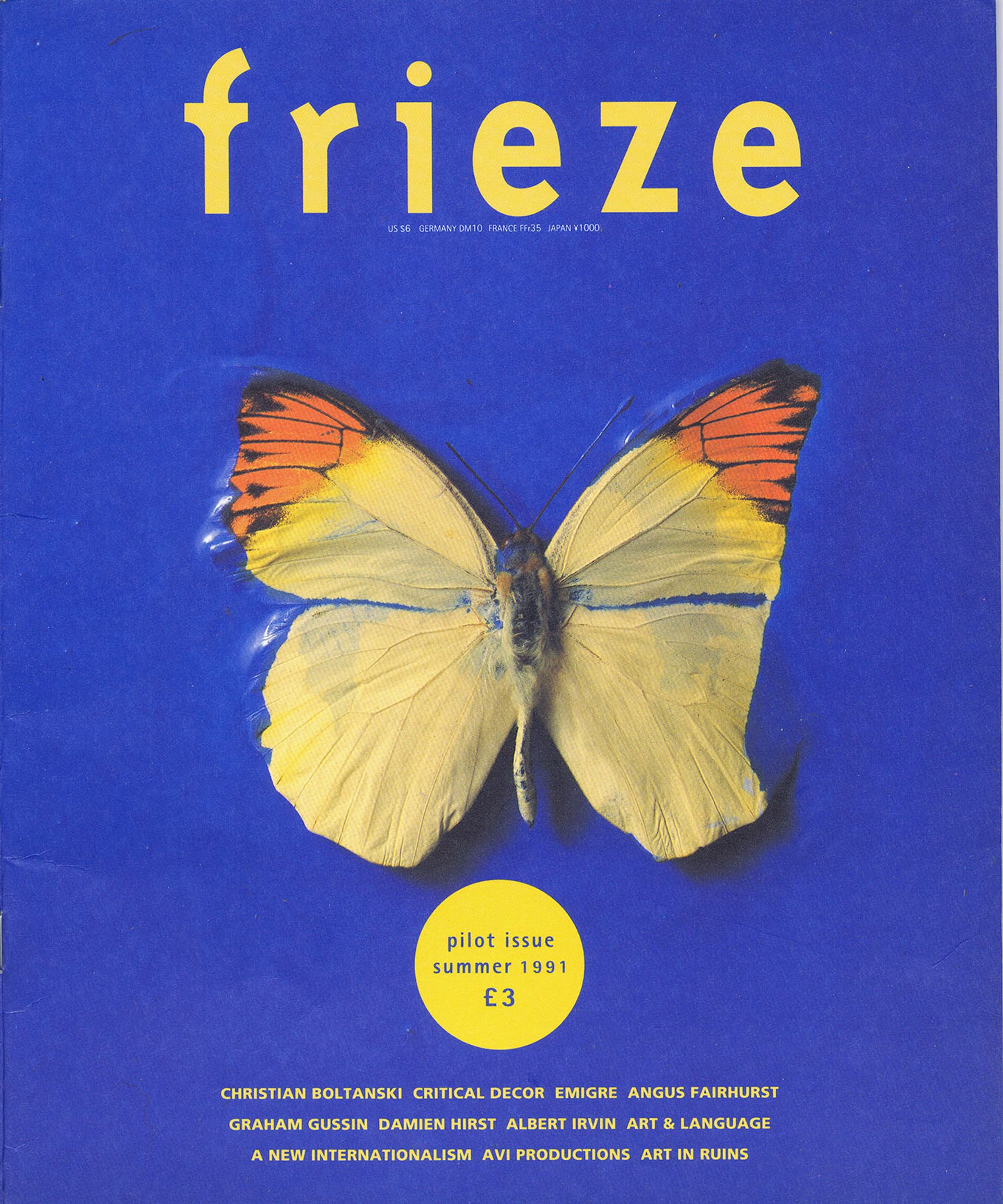 The cover of Frieze's pilot issue from summer 1991 Courtesy of Frieze