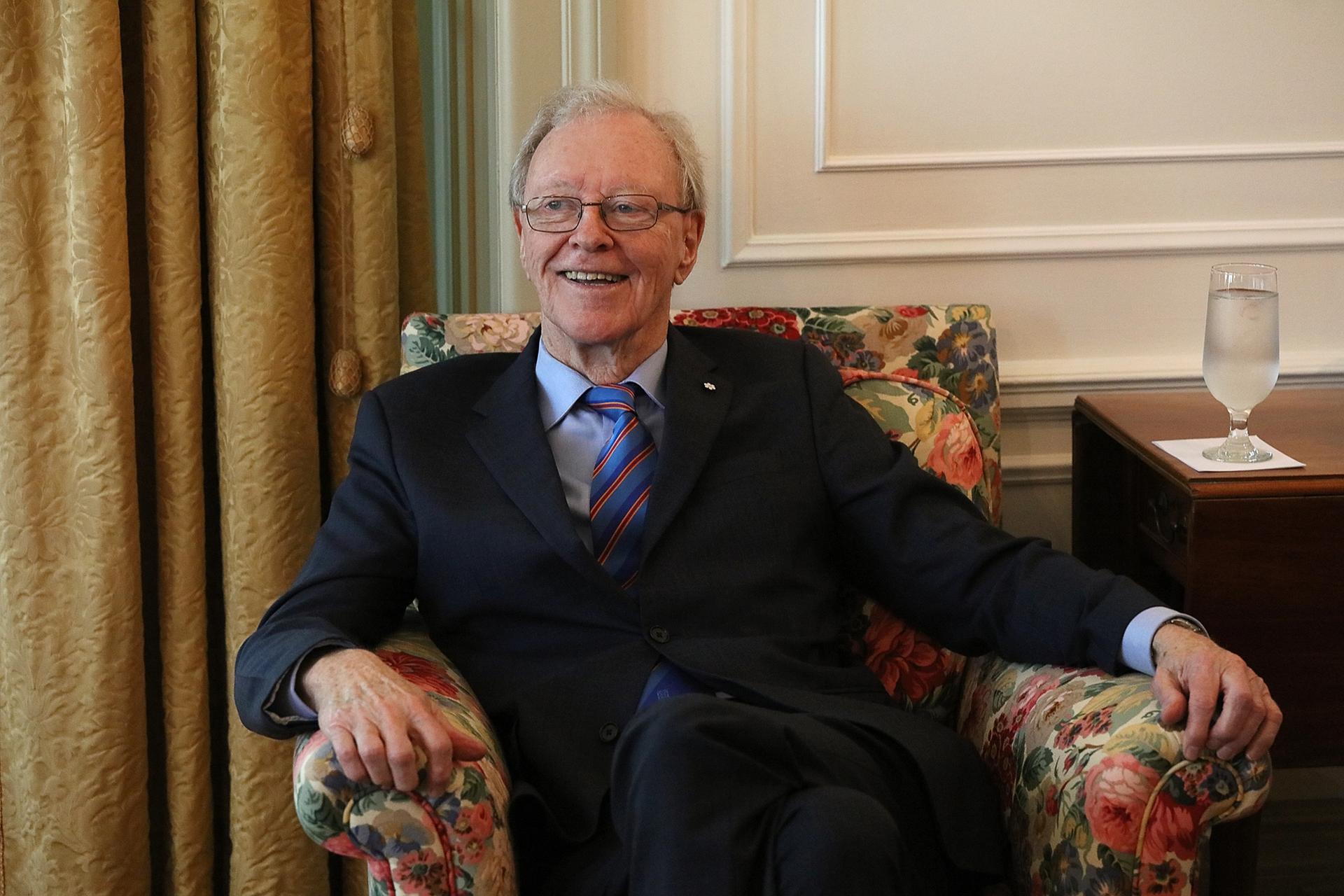 Donald R. Sobey at the Queen's University School of Graduate Studies Convocation in 2016 Photo: Bernard Clark