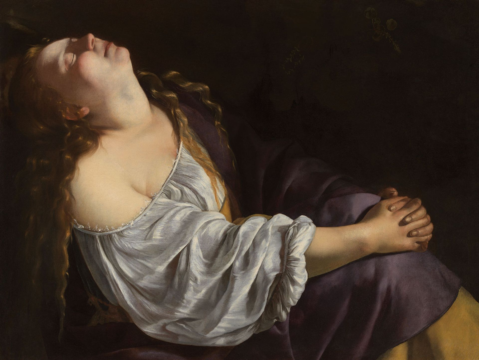 Artemisia Gentileschi's Mary Magdalene in Ecstasy (around 1620-25) © Photo: Dominique Provost Art Photography - Bruges