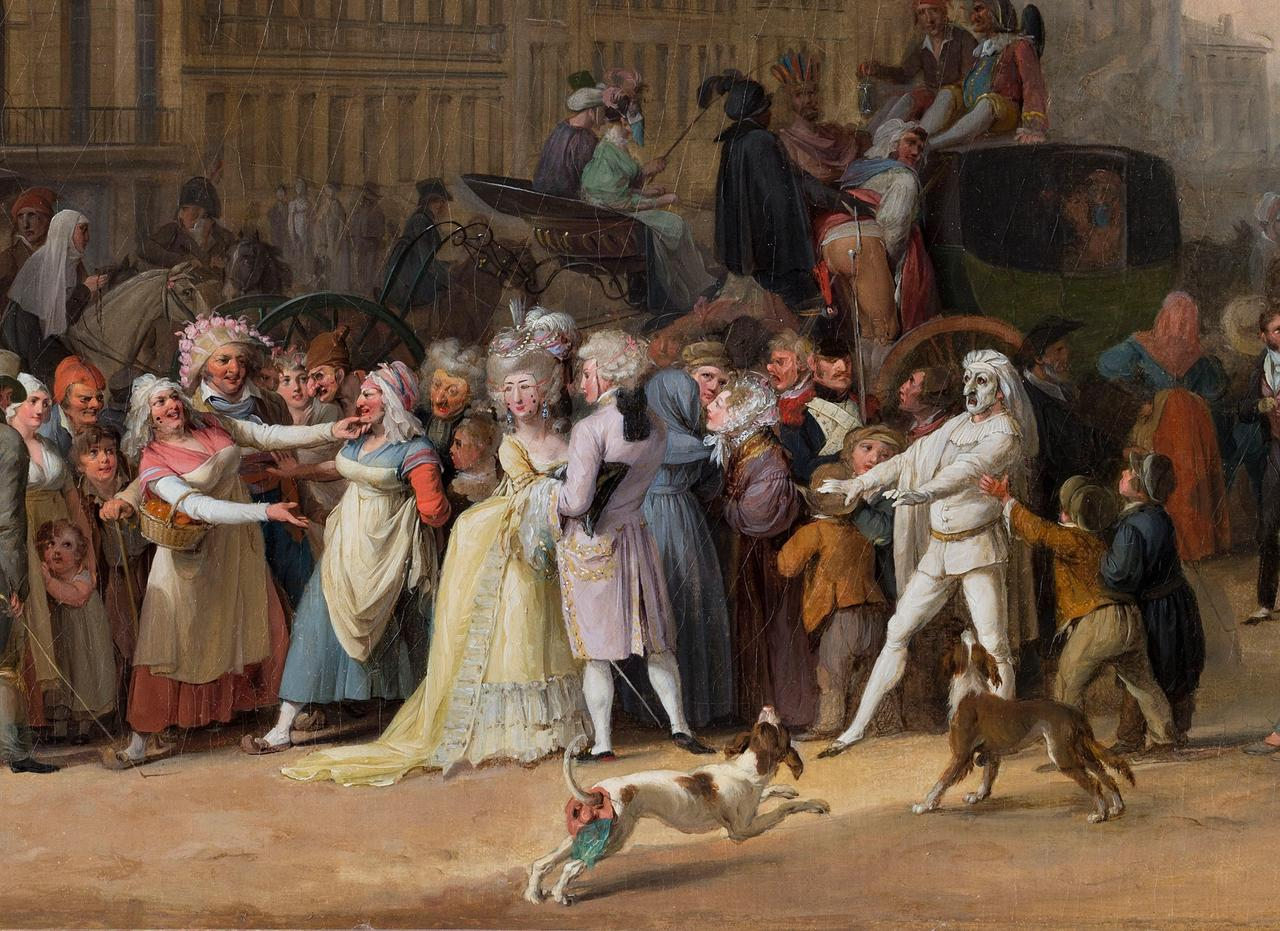 Louis-Léopold Boilly, A Carnival Scene (1832), detail Photo © courtesy the Trustees of the Ramsbury Manor Foundation