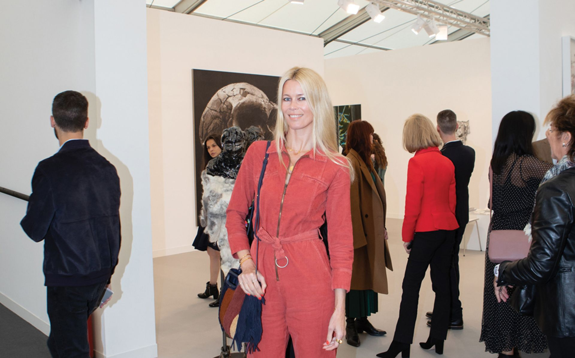 Claudia Schiffer at Frieze London's VIP preview David Owens