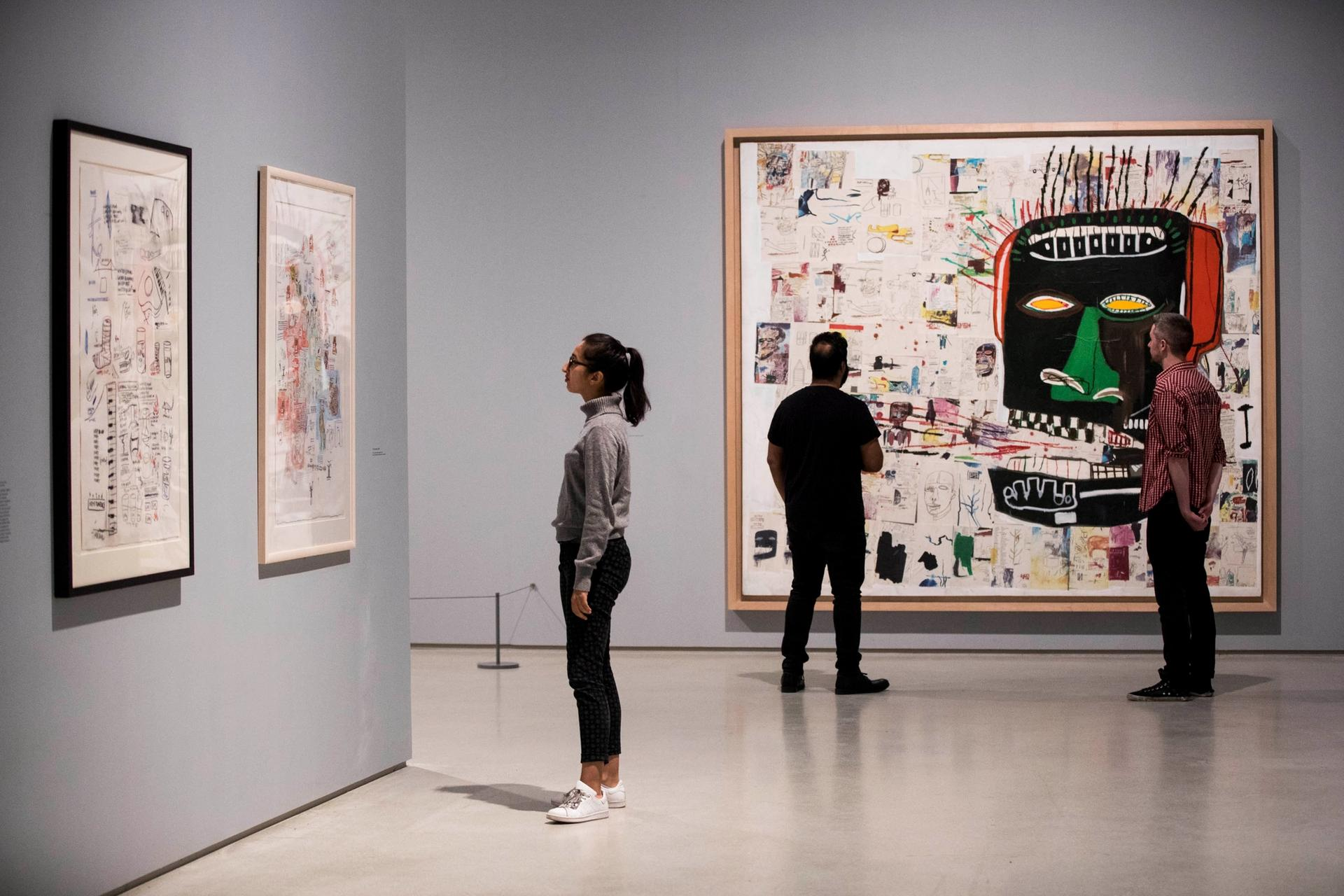Basquiat: Boom For Real at the Barbican Art Gallery achieved record attendance figures Tristan Fewings/Getty Images. Artworks: Jean-Michel Basquiat Glenn, 1984, private collection. © The Estate of Jean-Michel Basquiat. Licensed by Artestar, New York.