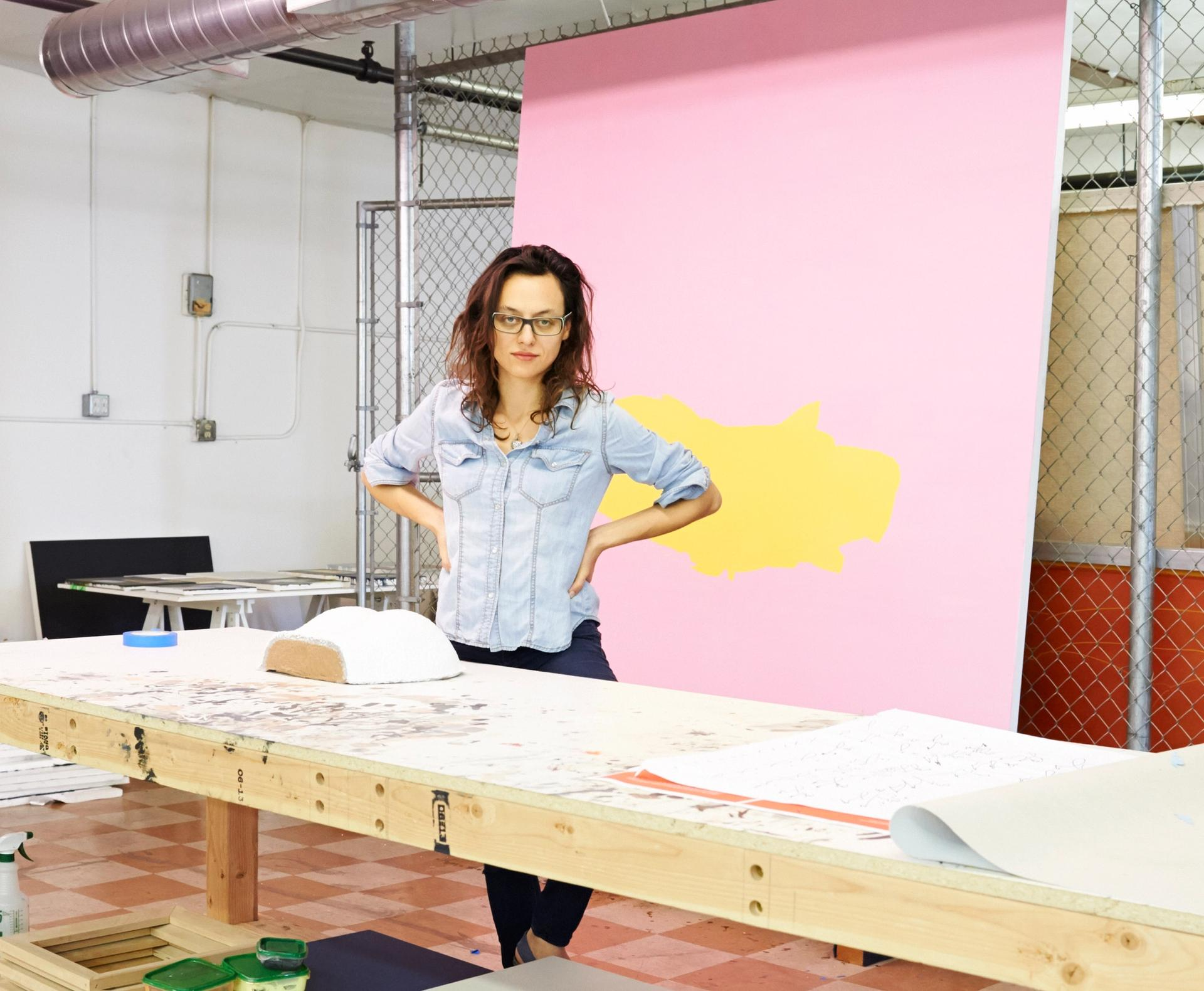 Tala Madani in her Los Angeles studio Photo: Adam Laycock