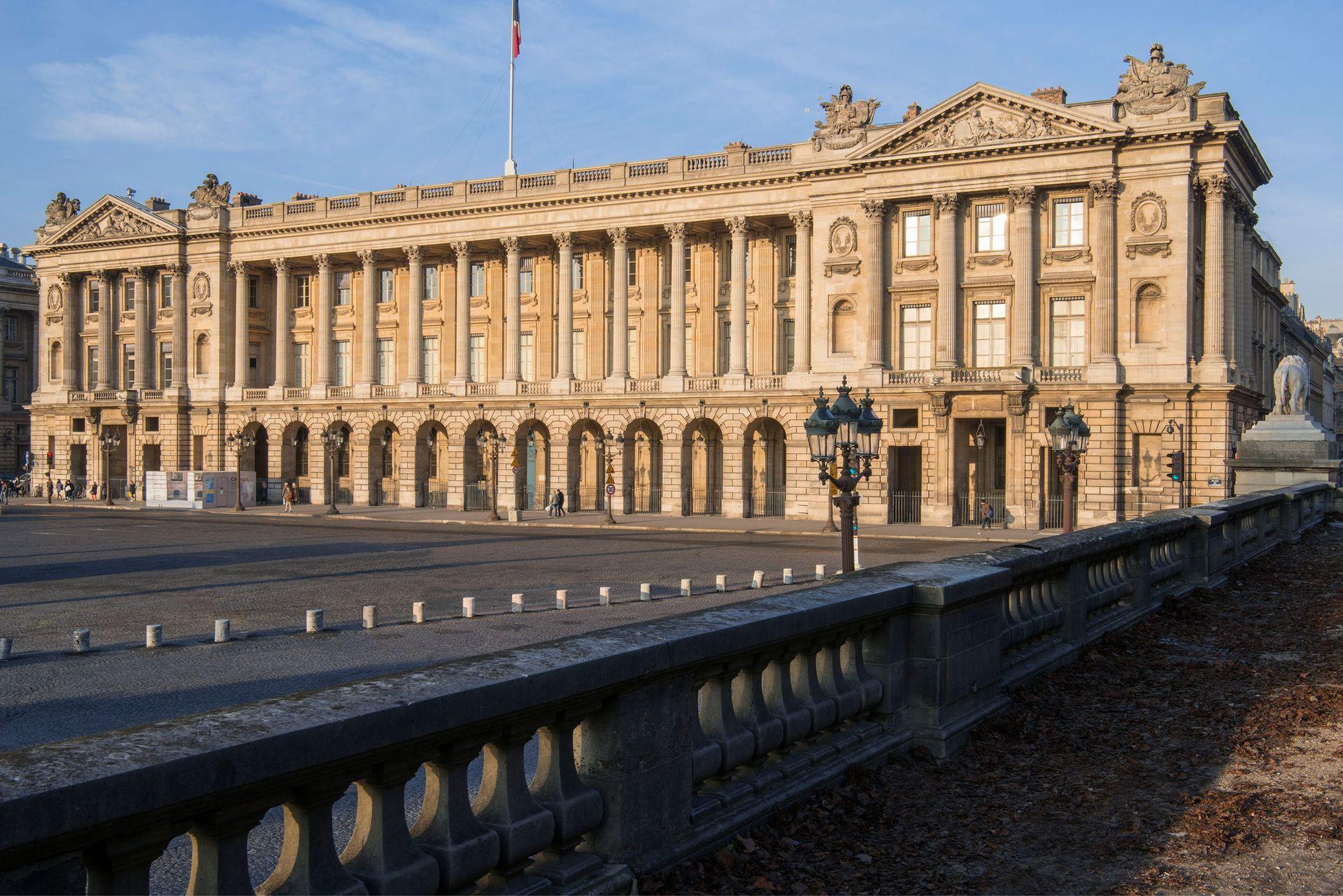 The 18th-century Hôtel de la Marine on the Place de la Concorde in Paris, which has reopened after a four-year restoration © Jean-Pierre Delagarde / Centre des monuments nationaux