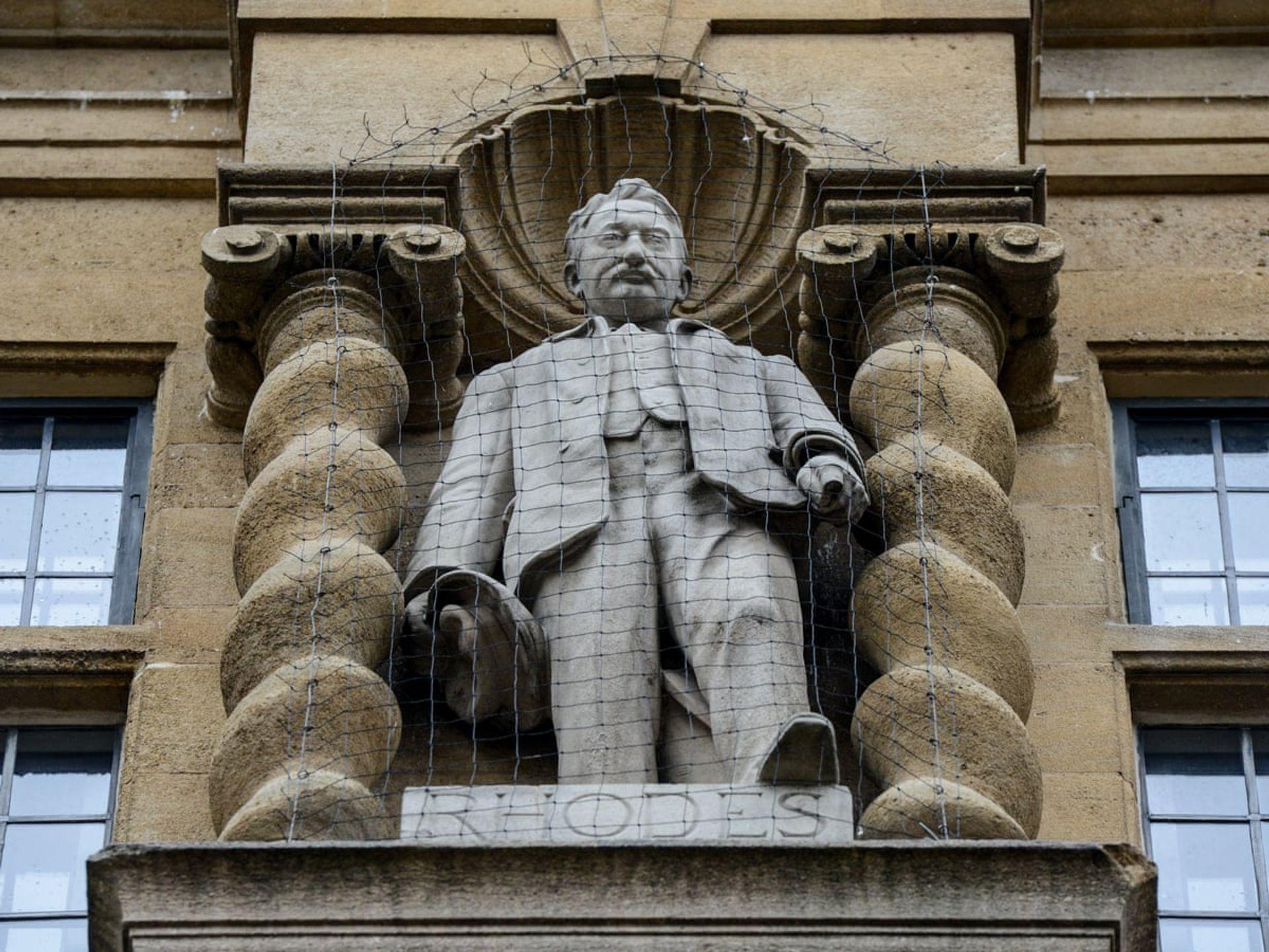 Cecil Rhodes statue at Oriel College, High Street Oxford