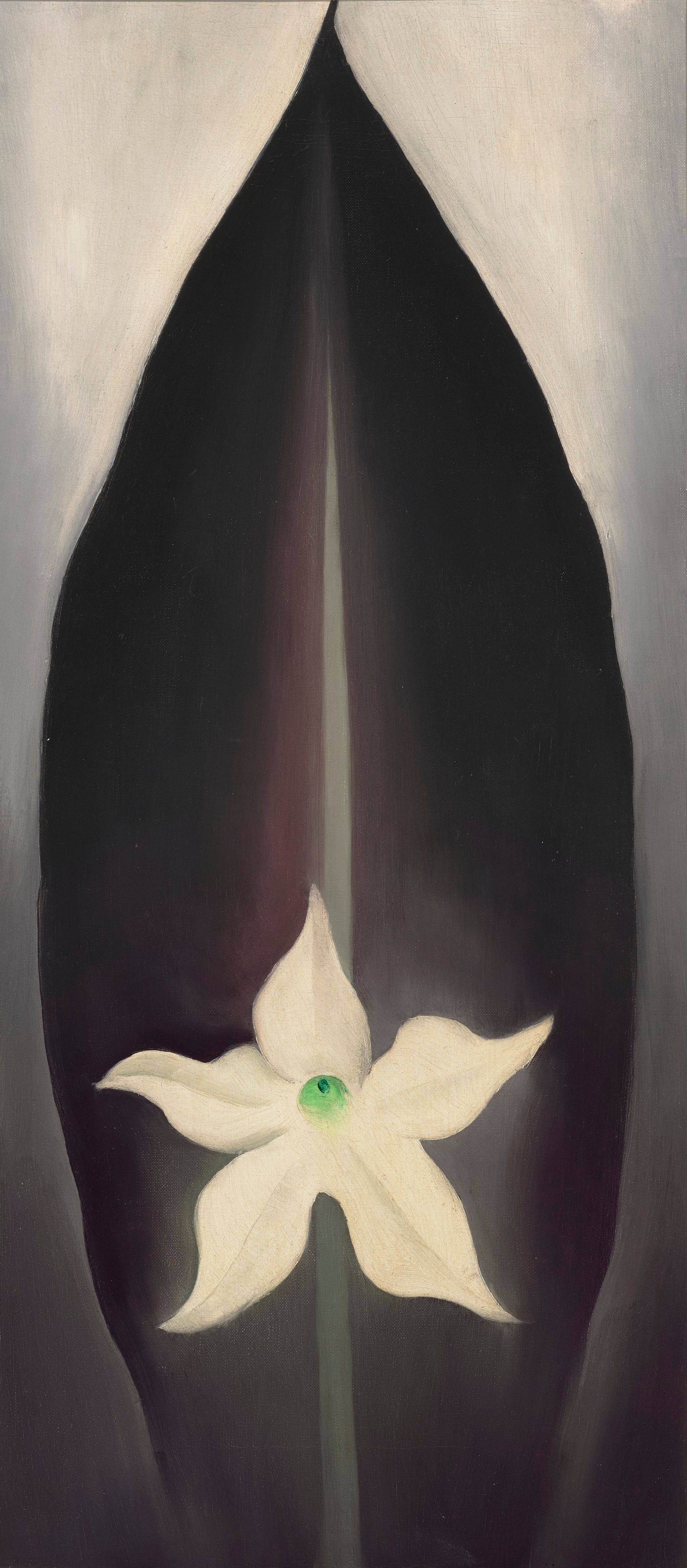 Georgia O'Keefe, Autumn Leaf and White Flower (1926) Courtesy: Christies