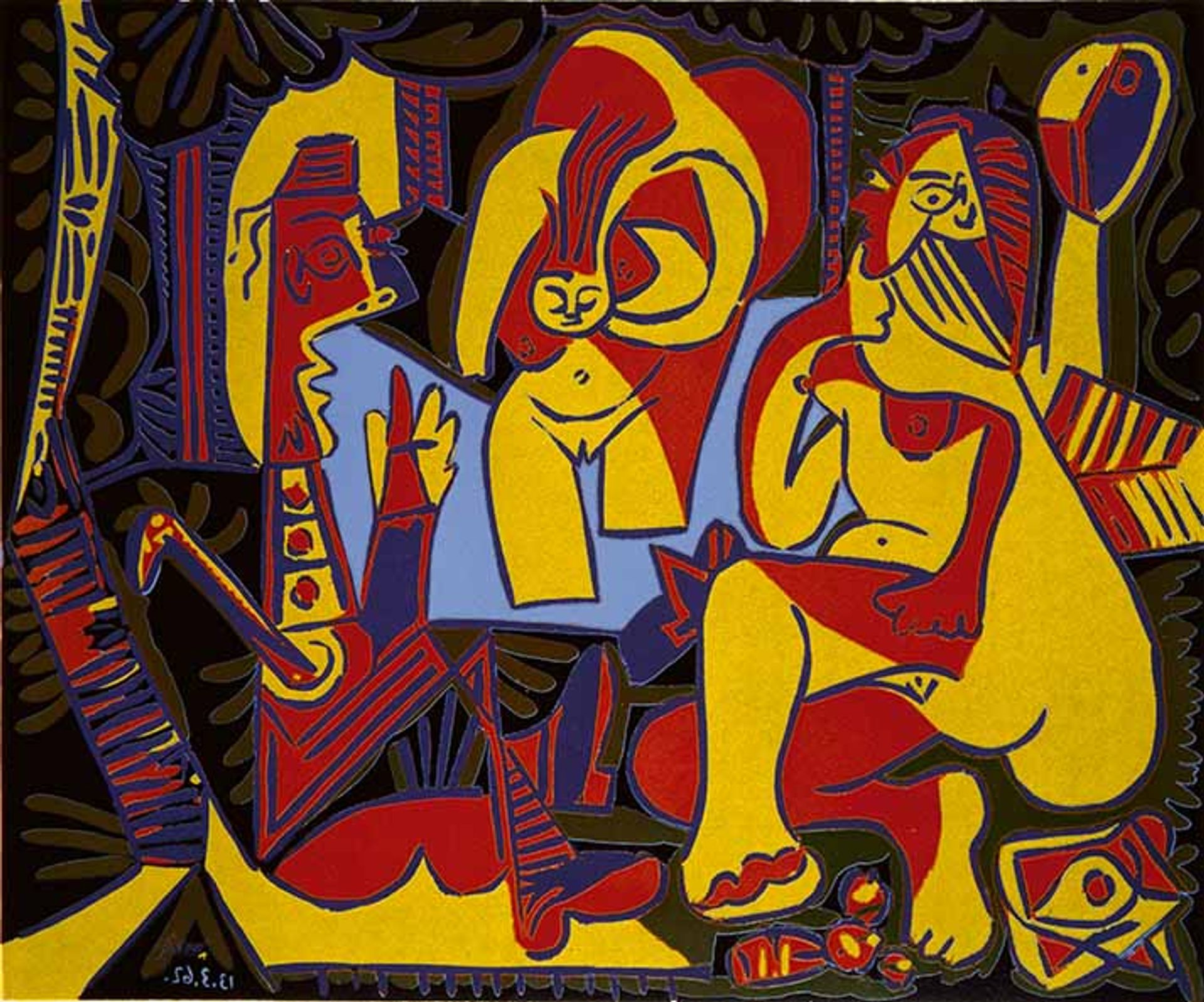 Pablo Picasso's 'Le Déjeuner sur l'herbe' after Manet, I, Mougins, (1962) © RMN-Grand Palais (Musée national Picasso-Paris) / Marine Beck-Coppola © Succession Picasso/DACS 2019