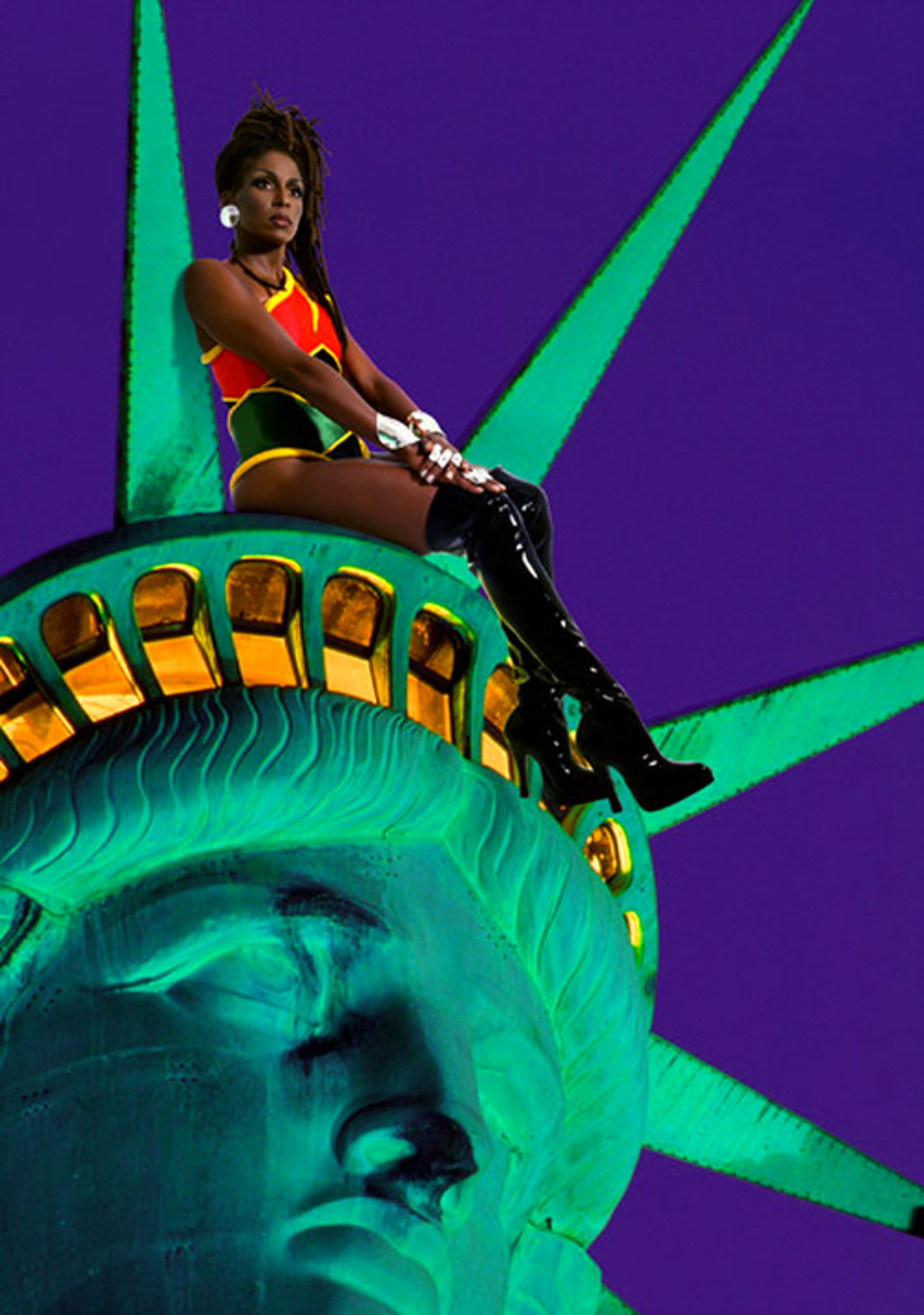 Renee Cox, Chillin' with Lady Liberty (1998) Courtesy Renee Cox