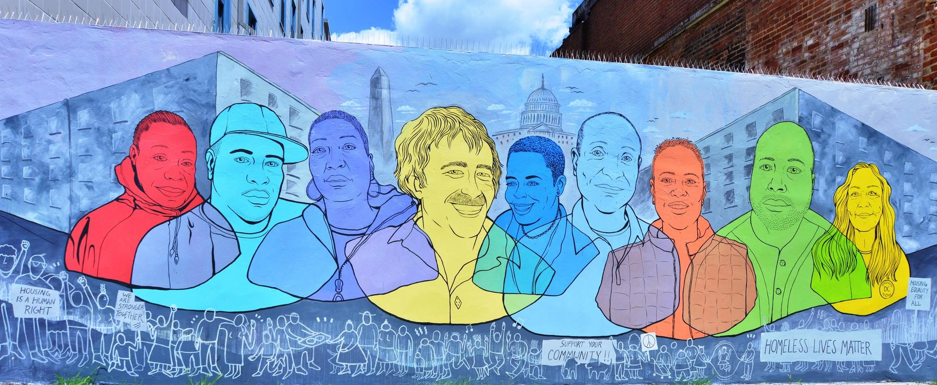 The DC Commission on the Arts and Humanities  annually awards millions of dollars to individual artists and arts organisations across disciplines, including public murals for the city © Rose Jaffe, courtesy of MuralsDC
