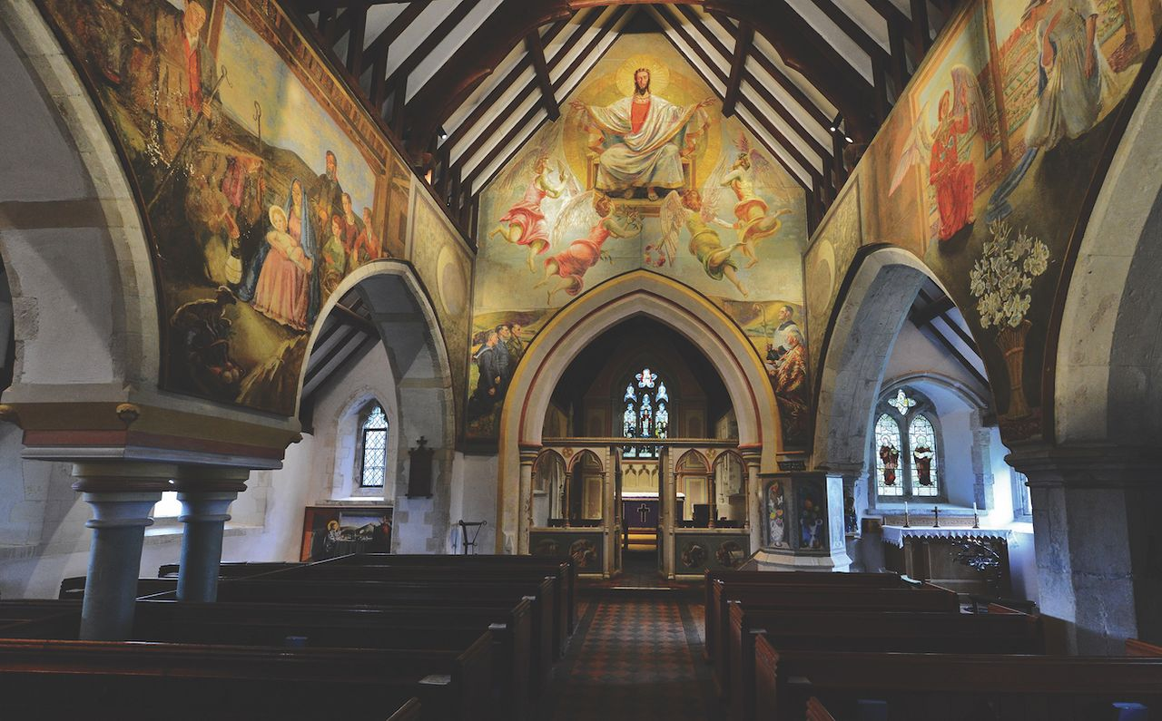 The Berwick church is famous for its wall paintings by Bloomsbury Group artists, who lived nearby, but is embroiled in a dispute about whether its pews should go © Michael Garlick