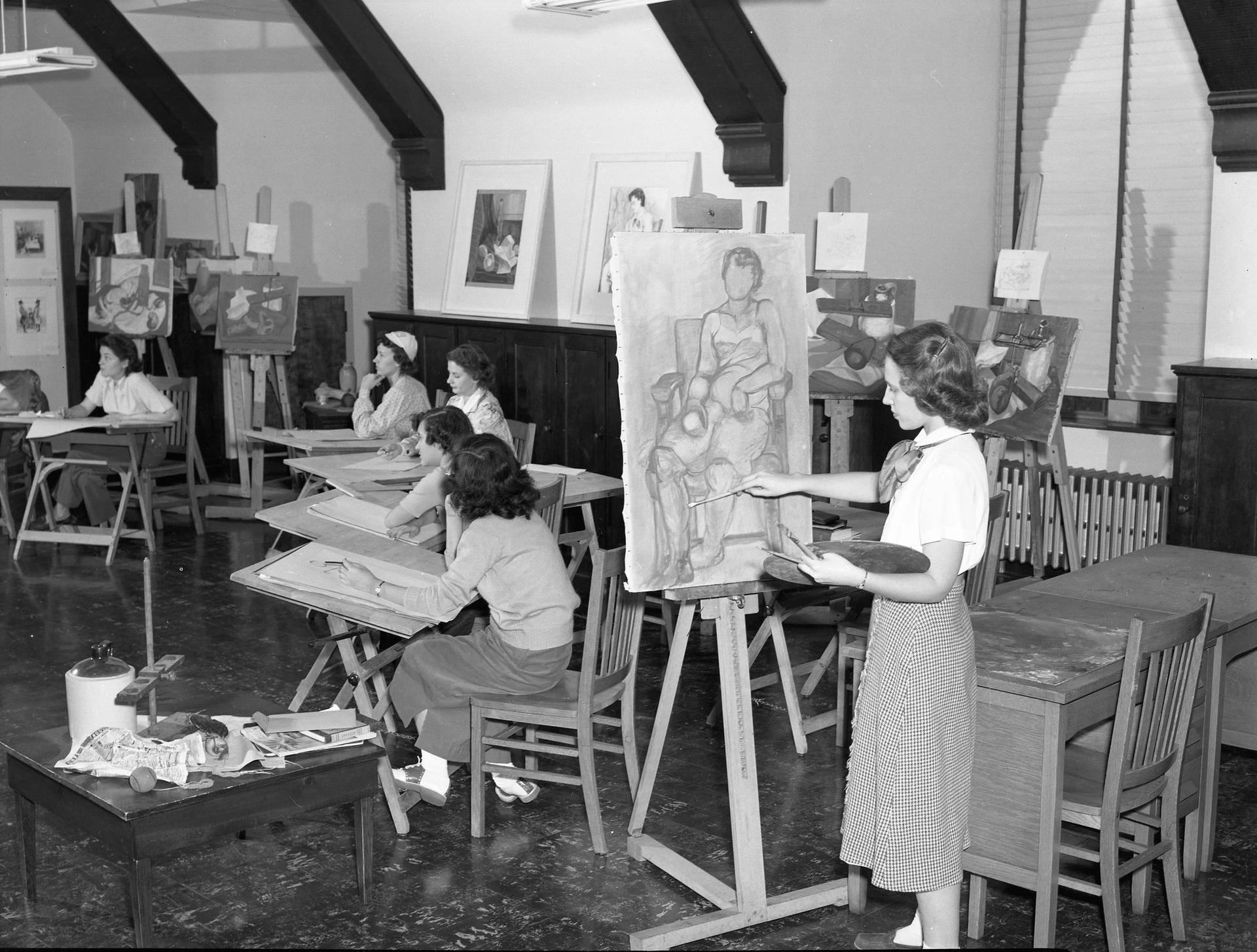 When it comes to art education, times have changed. Here's an art class from the Missouri State Archives taken around 1955 Photo: Gerald R. Massie