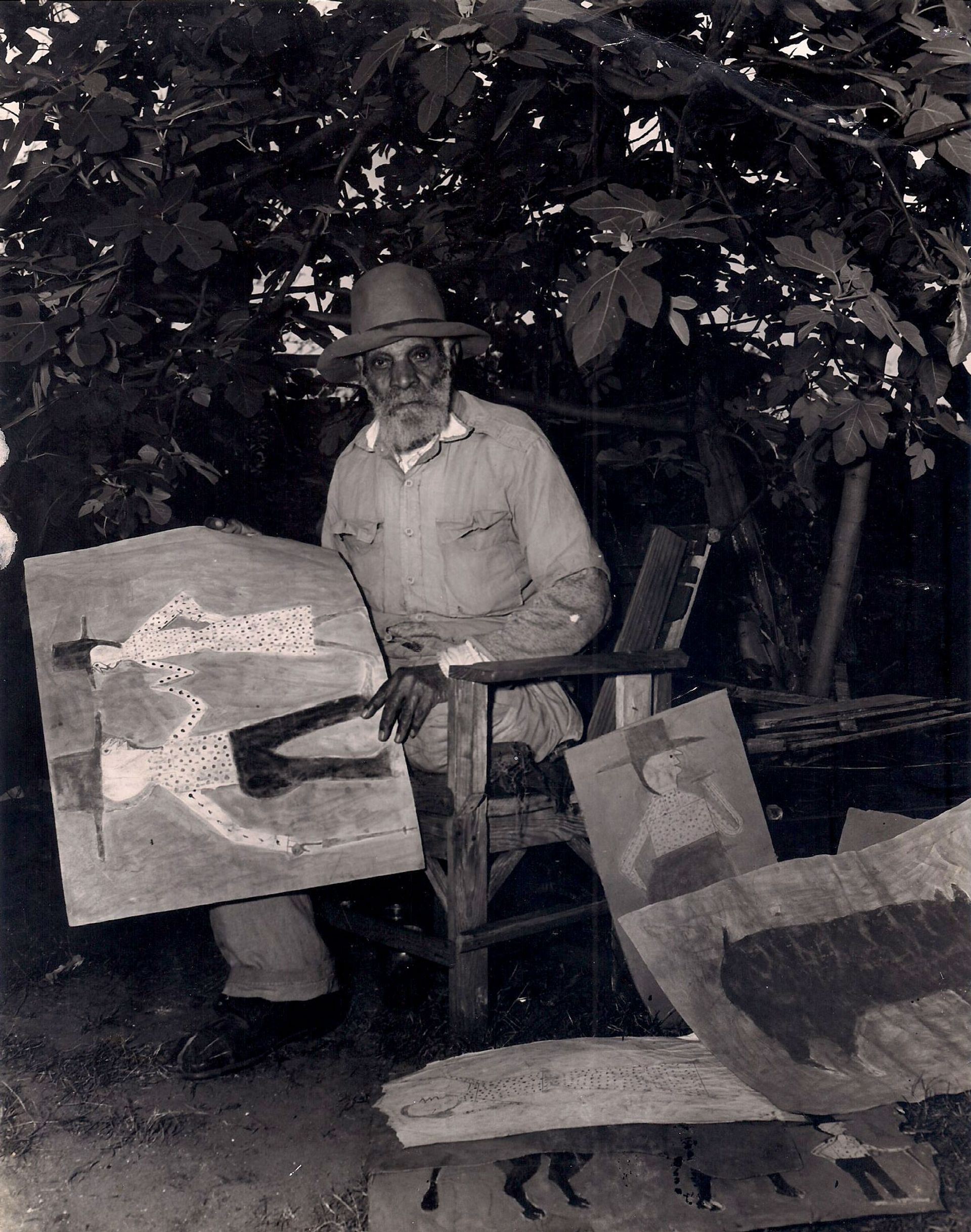 Bill Traylor started drawing in his 80s, after a lifetime working on the farms his family lived on since slavery Photo: Albert Kraus. Collection Tommy Giles Photographic Service