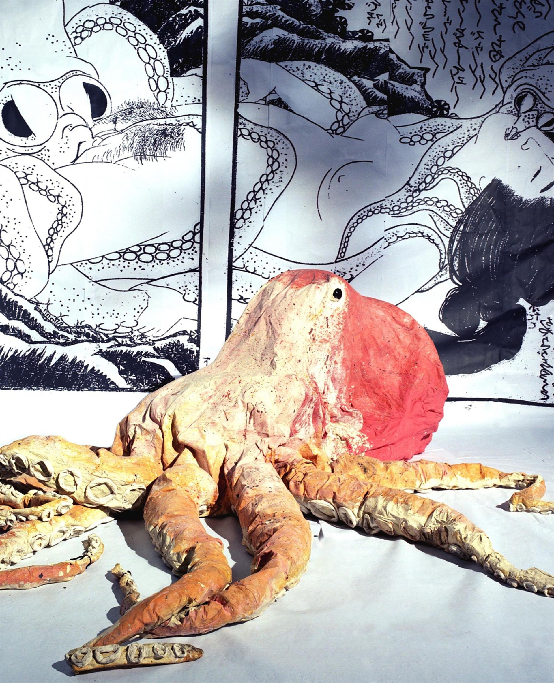 Monster Chetwynd's Hokusai's Octapai (2004) will be included in Sadie Coles HQ's Tempest show in collaboration with  Tanya Leighton gallery © Monster Chetwynd, courtesy Sadie Coles HQ, London.