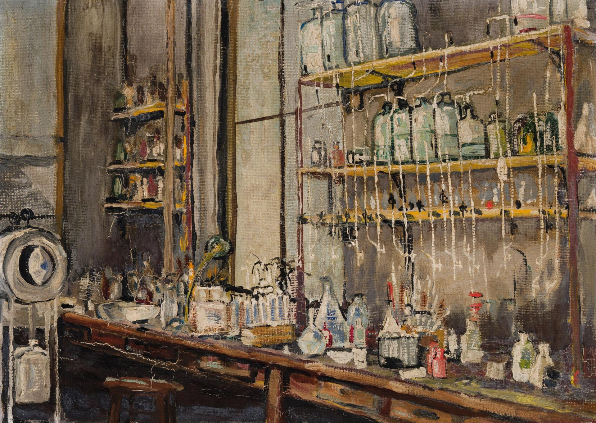 Nobel laureate Frederick Banting painted The Lab (1925) at the University of Toronto facility where he and Charles Best had discovered insulin just a few years before Heffel Fine Art Auction House/The Canadian Press