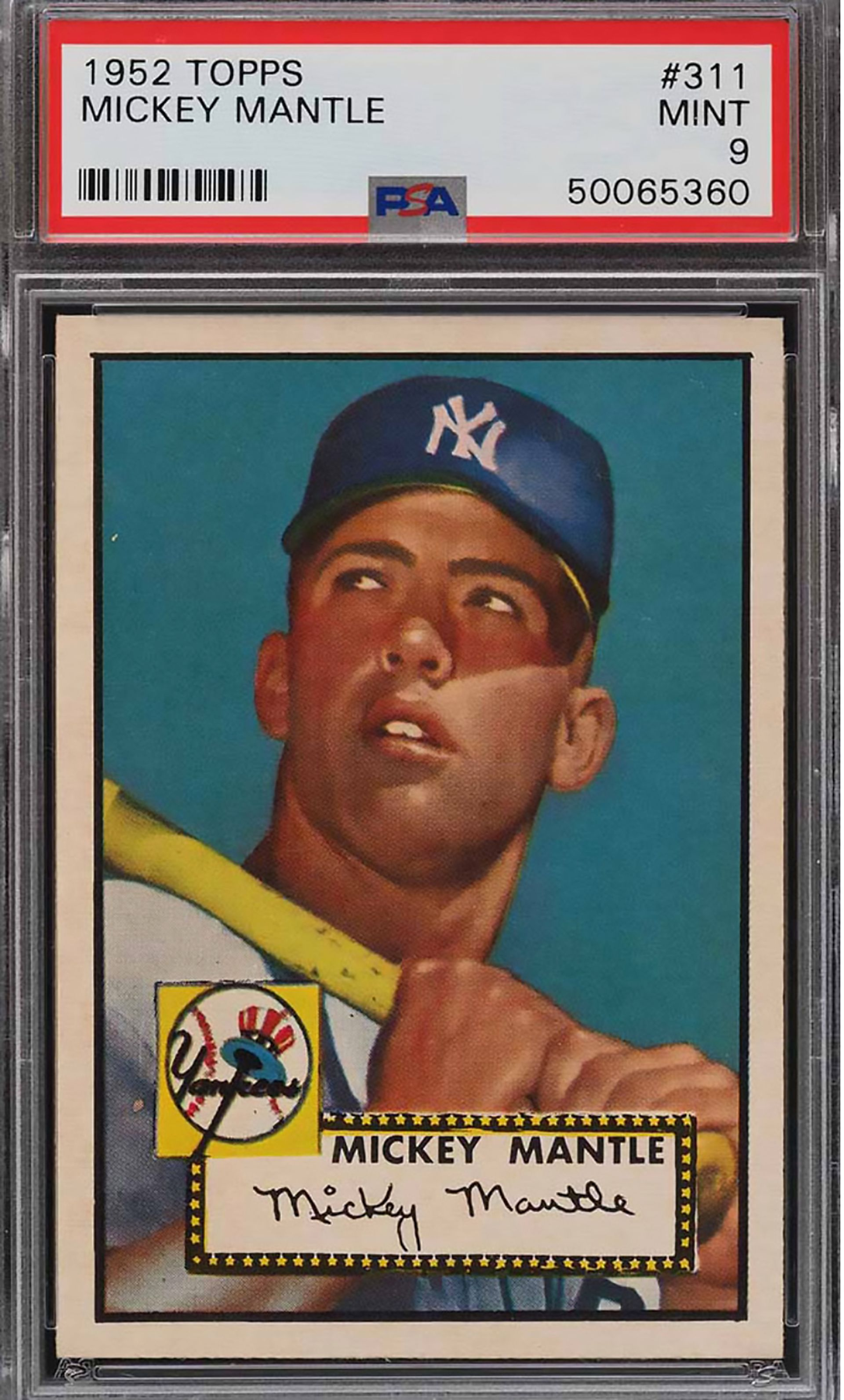 This Mickey Mantle baseball card sold for a record $5.2m in January 2021 via PWCC Marketplace Courtesy of PWCC Marketplace