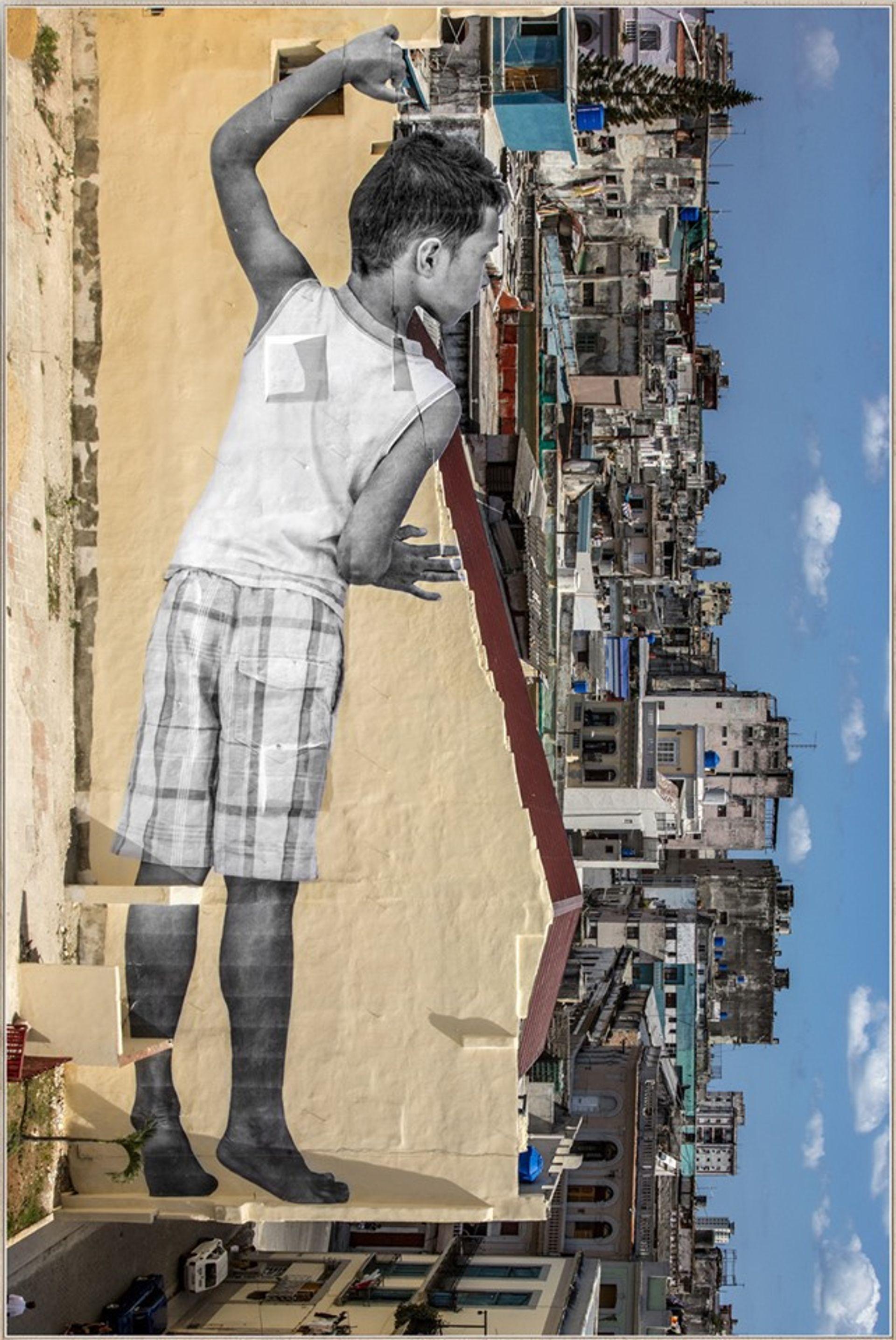 JR's GIANTS in Havana, Cuba (2019) Courtesy of Galleria Continua
