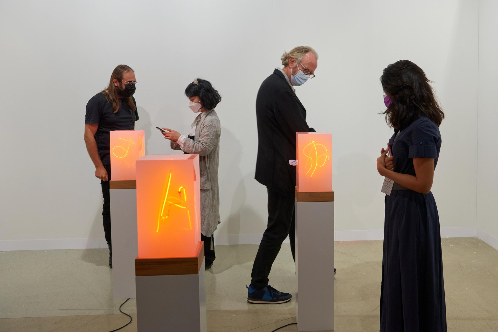 The Limna app promises to give collectors an instant, impartial price while at art fairs  © Art Basel