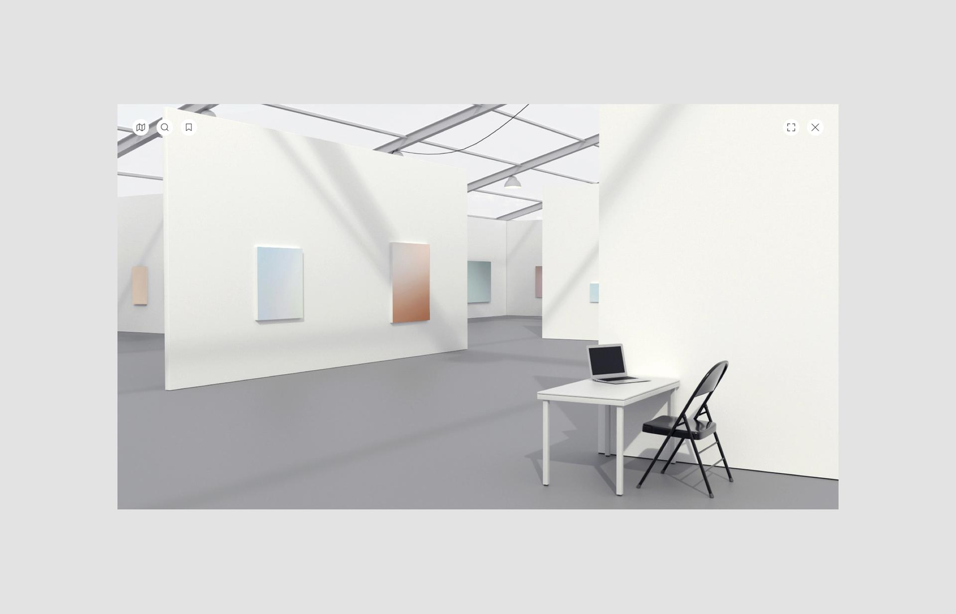 Rendering of Untitled, Art online. Courtesy of Untitled, Art and Artland
