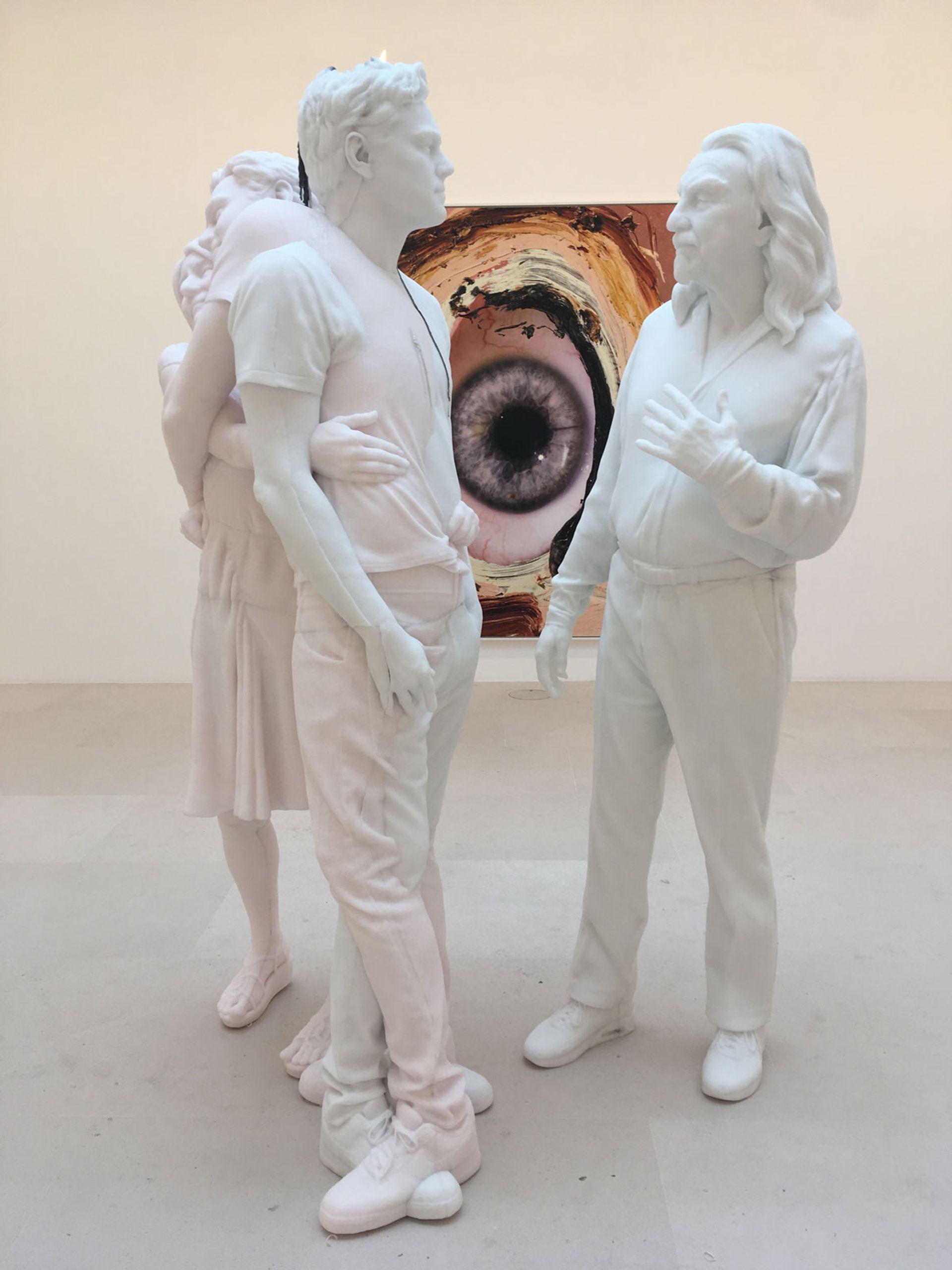 Urs Fischer's Leo on show at Gagosian gallery in Paris © Photo: Anna Sansom, The Art Newspaper