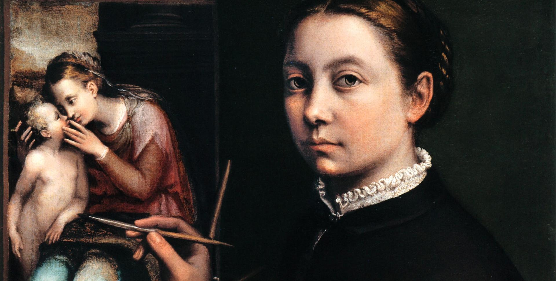 Sofonisba Anguissola's Self-portrait at the Easel Painting a Devotional Panel (1556). Courtesy of The Picture Art Collection/Alamy Stock Photo Sofonisba Anguissola's Self-portrait at the Easel Painting a Devotional Panel (1556). Courtesy of The Picture Art Collection/Alamy Stock Photo