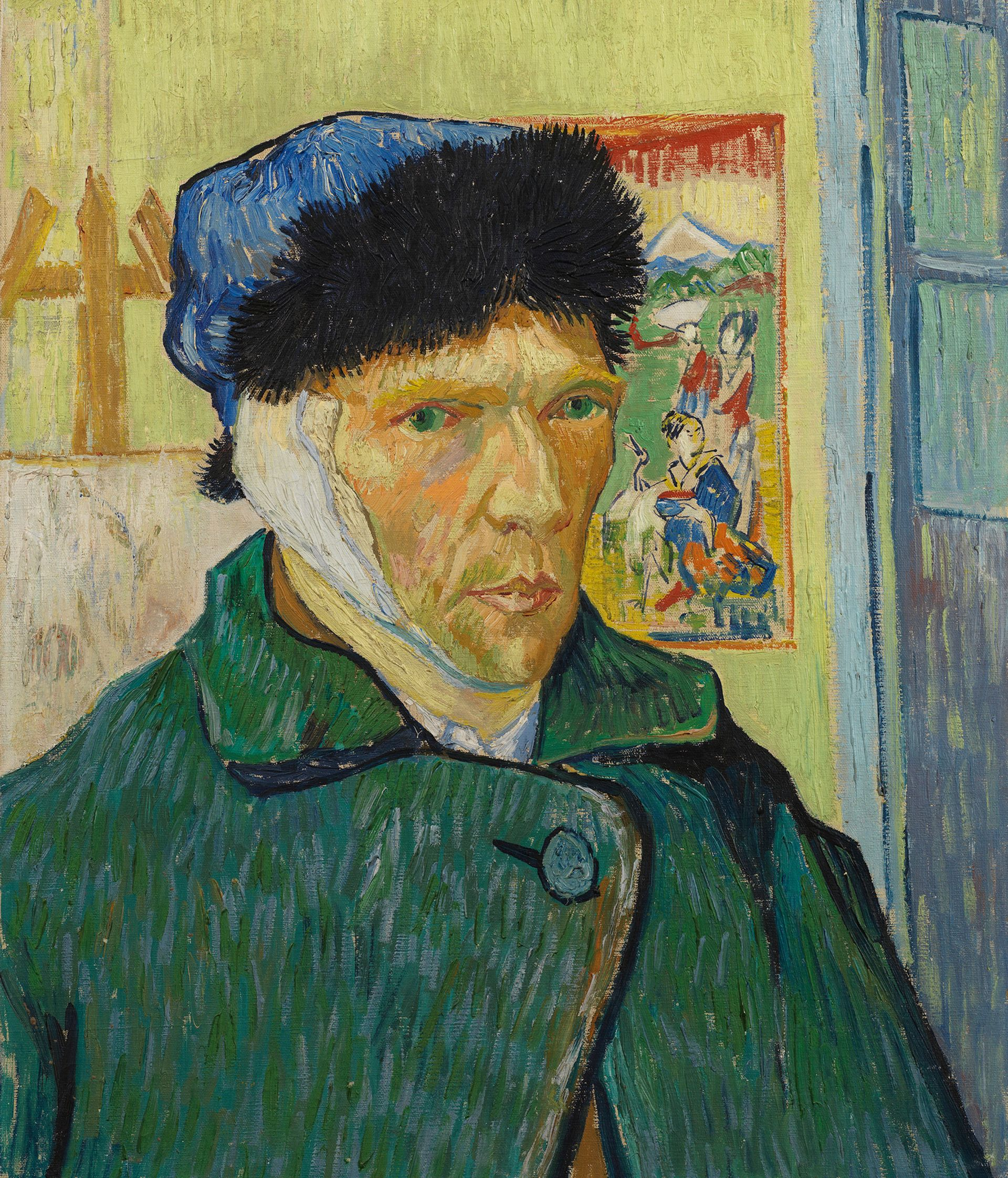 Vincent van Gogh's Self-portrait with bandaged Ear (1889) © The Samuel Courtauld Trust, Courtauld Gallery, London