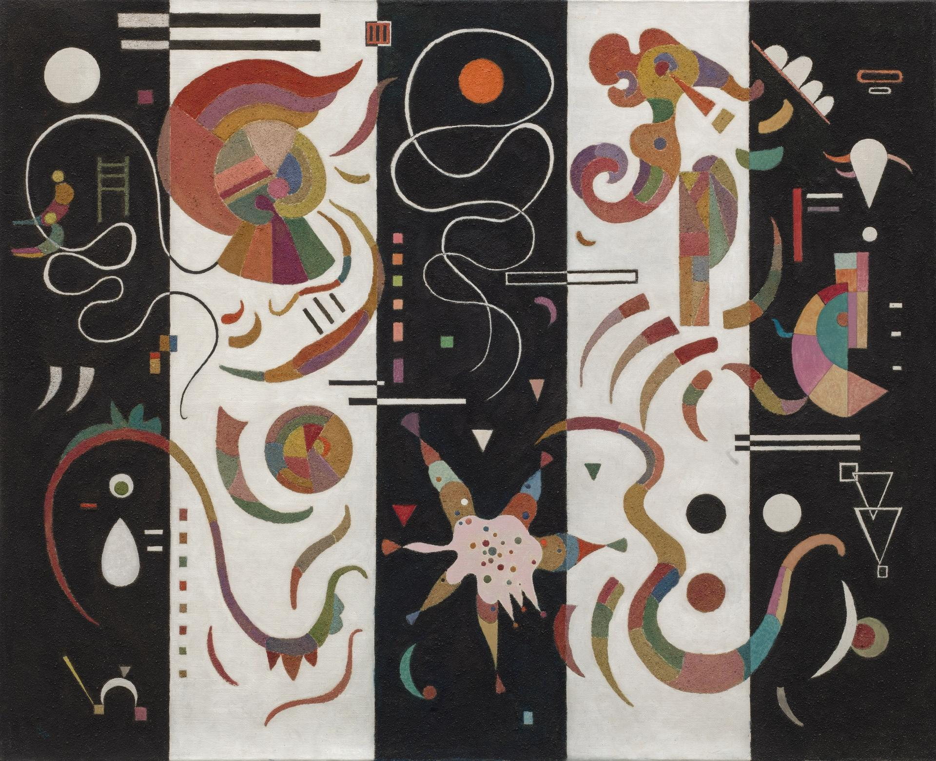 Vasily Kandinsky, Striped (Rayé) (1934). Courtesy Solomon R. Guggenheim Museum, New York.
