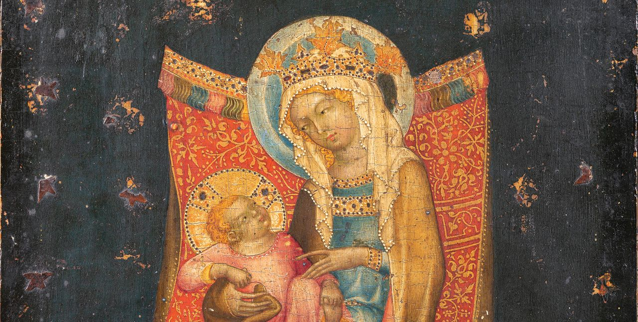 Virgin and Child Enthroned (around 1350) by the Master of VyššíBrod was acquired by The Metropolitan Museum of Art Cortot & Associés