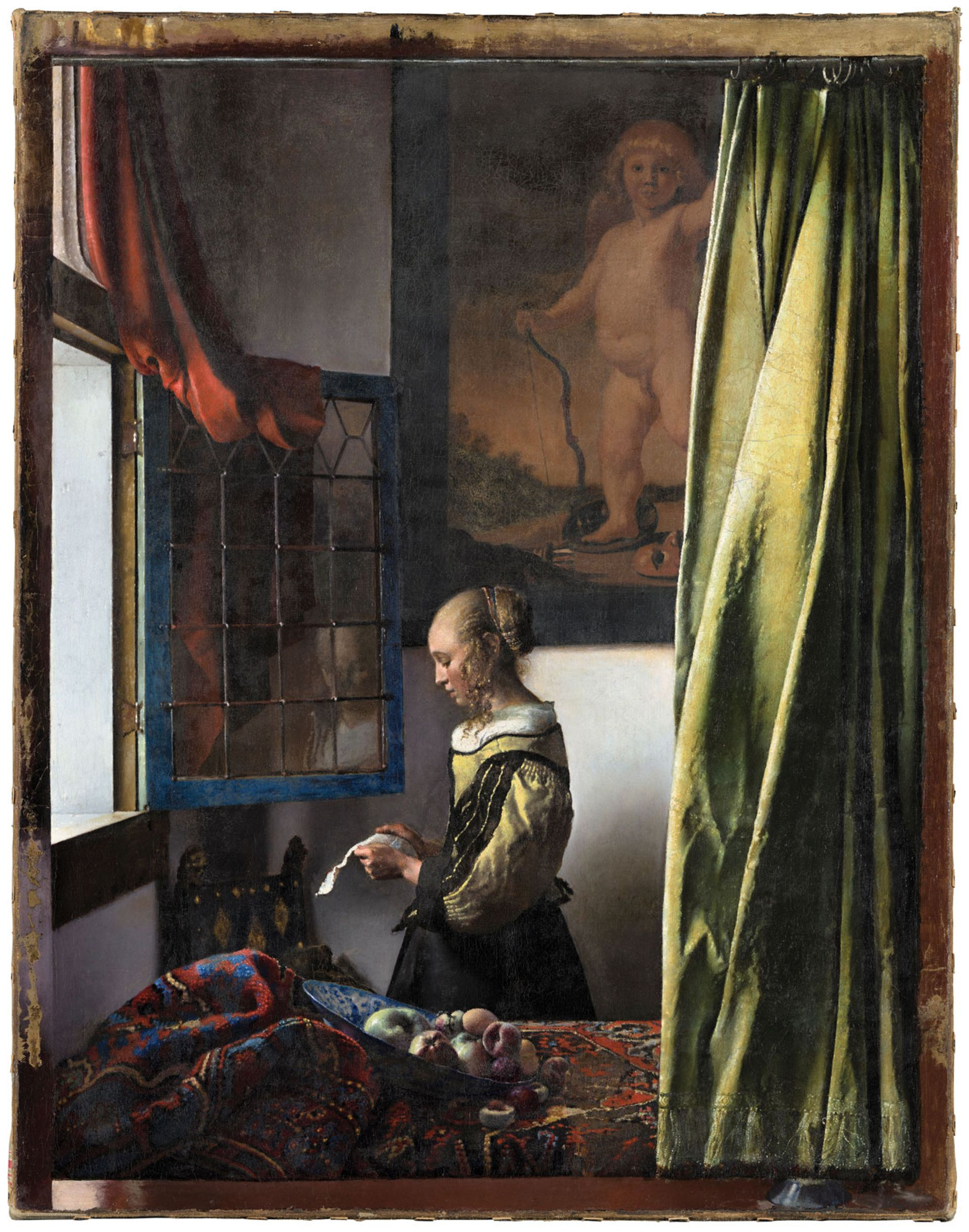 The newly restored Girl Reading a Letter at an Open Window (around 1657-59) by Johannes Vermeer © Gemäldegalerie Alte Meister, SKD, Photo: Wolfgang Kreische