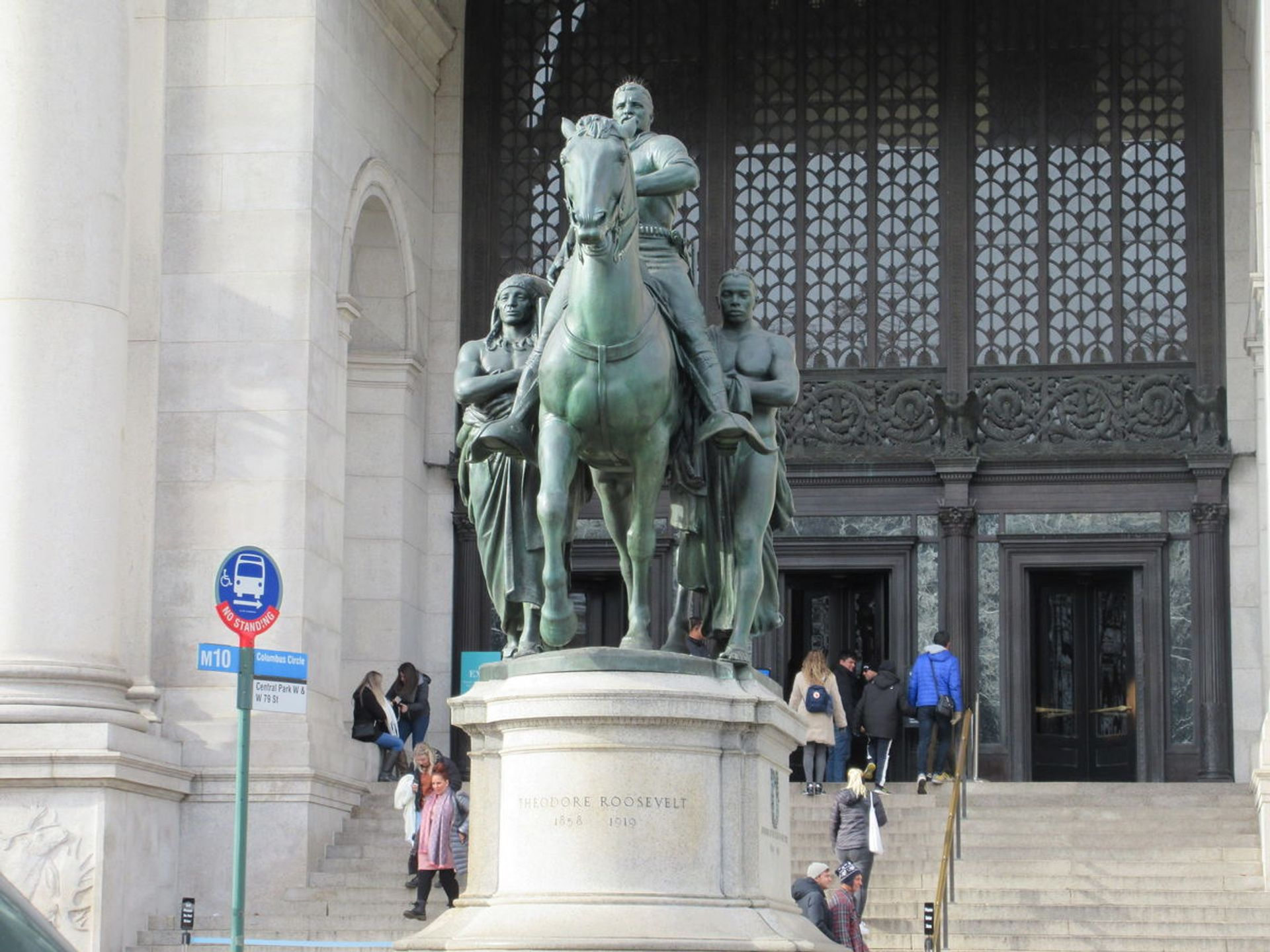 Statue of Theodore Roosevelt outside the American Museum of Natural History. Image courtesy Flickr
