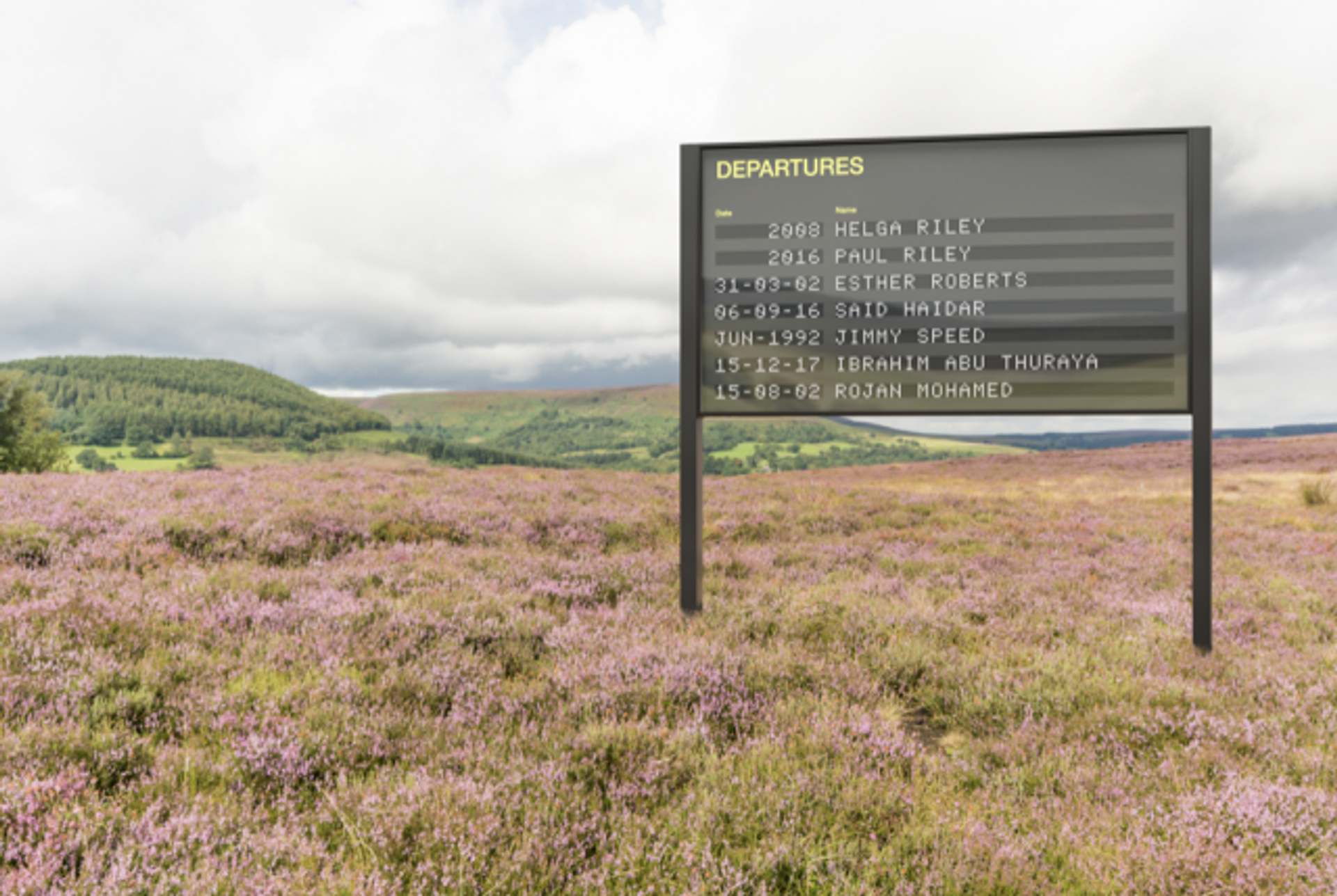 The public artwork Arrivals and Departures by Yara and Davina, which tours the UK this year, is produced by Artsadmin and is supported by Creative Europe Photo: Tom McClaughlan in collaboration with the artists