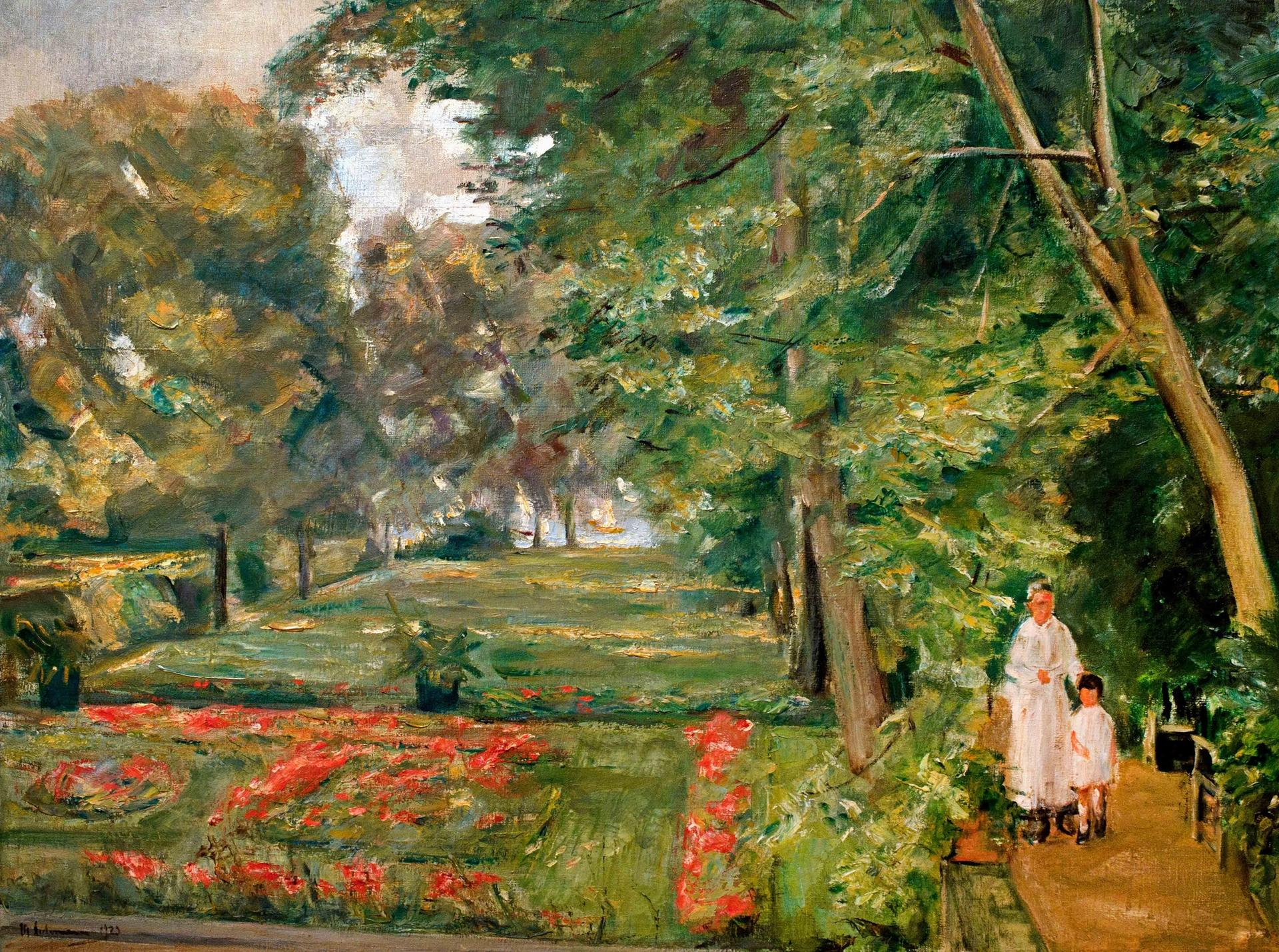 Max Liebermann, The Artist's Granddaughter and her Governess in the Wannsee Garden (1923) Credit: Alamy