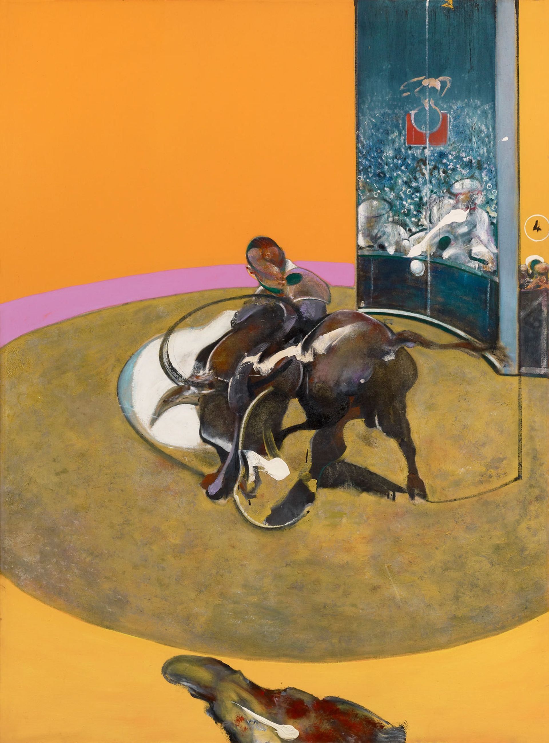 Francis Bacon's Study for Bullfight No. 1 (1969) Private Collection, Switzerland. Photo: Prudence Cuming Associates Ltd.