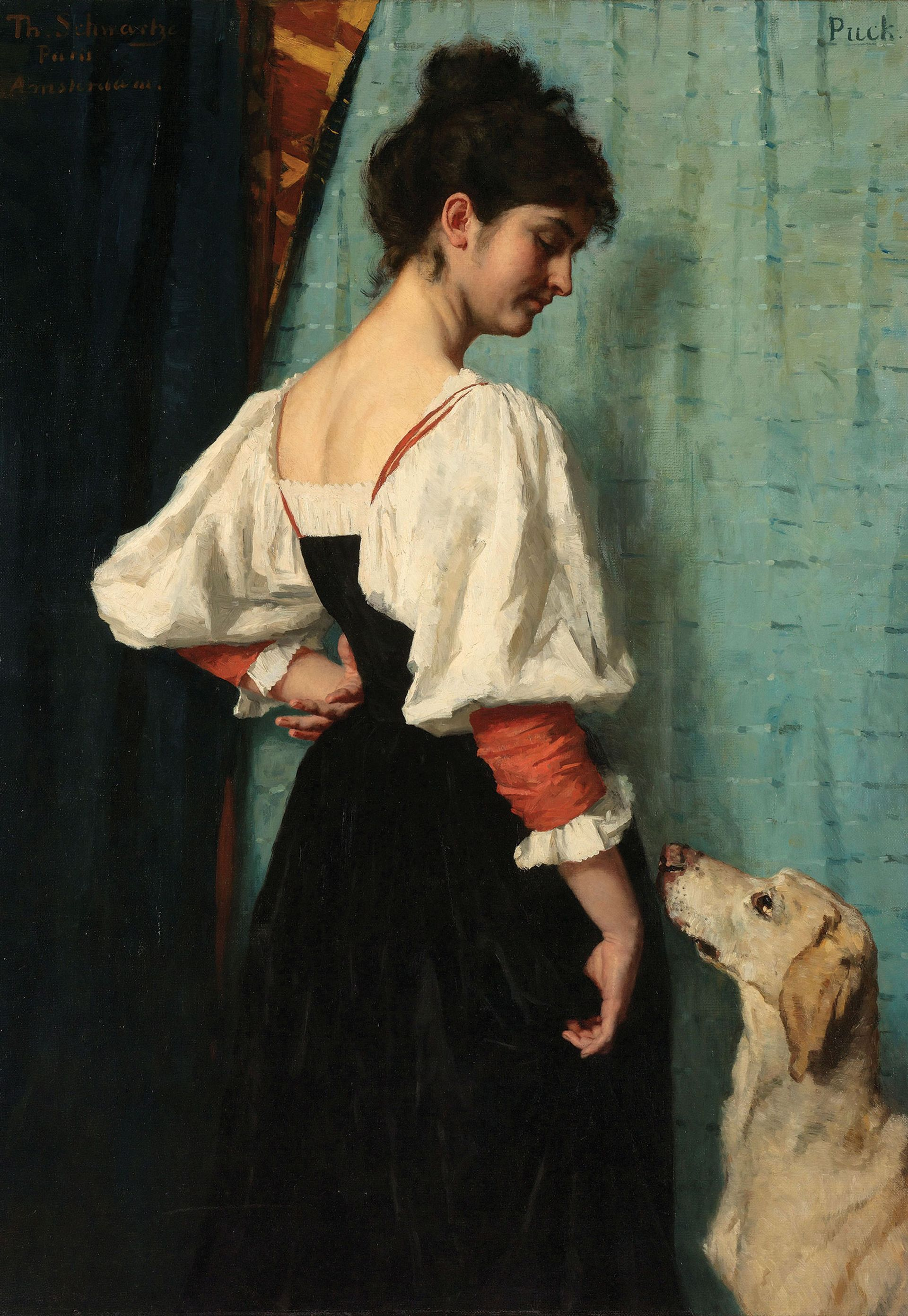Thérèse Schwartze, Portrait of a Young Woman with 'Puck' the Dog (around 1884-85) Courtesy of Rijksmuseum Amsterdam