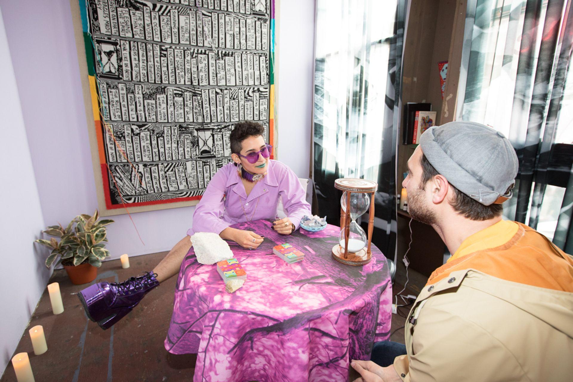 Lisa Anne Auerbach's Psychic Art Advisor (2019), part of Frieze Los Angeles projects Photo: www.david-owens.co.uk
