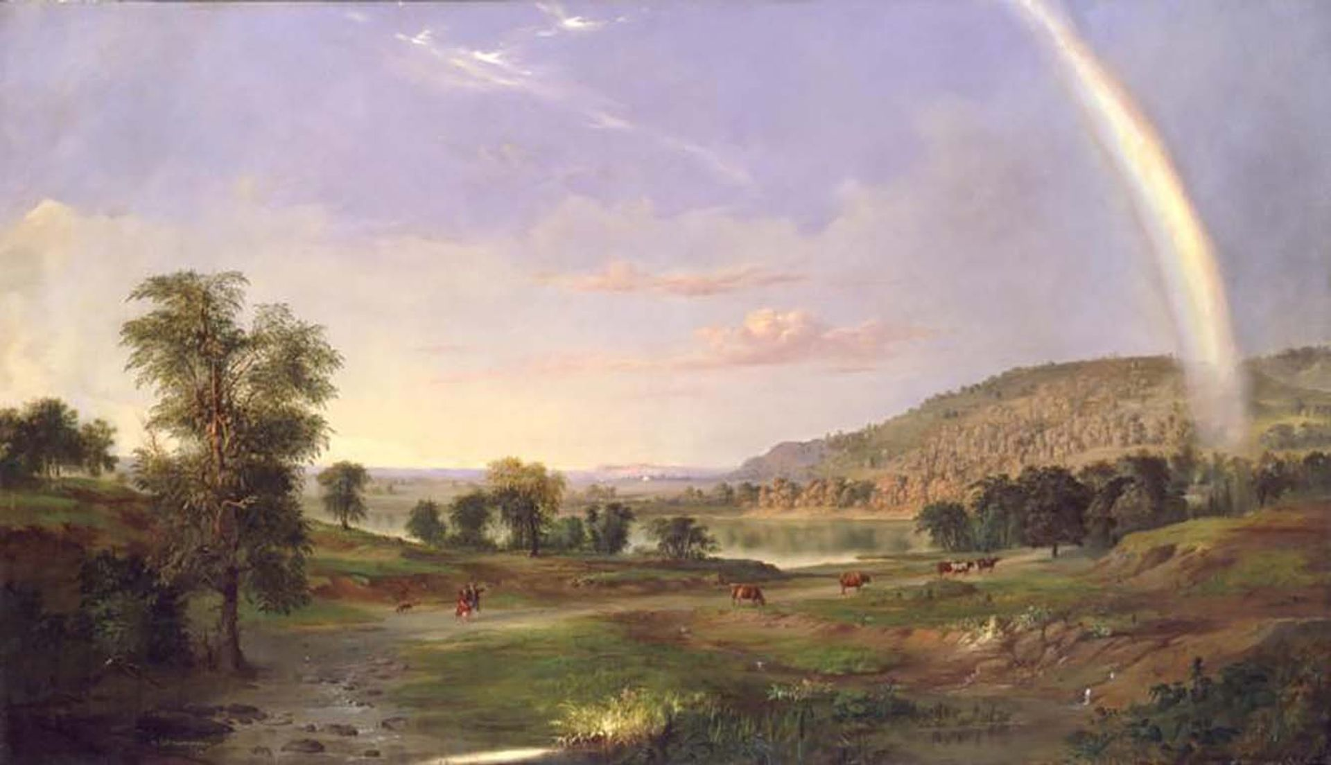 Robert S. Duncanson's Landscape with Rainbow (1859), from the Smithsonian American Art Museum Smithsonian American Art Museum