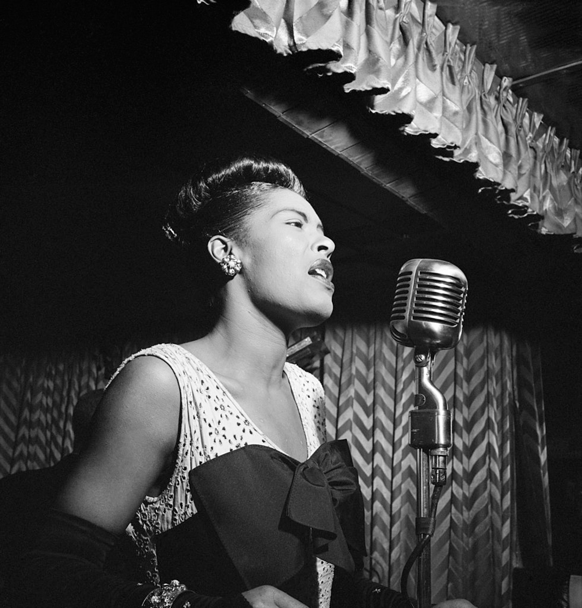 Billie Holiday in the 1940s