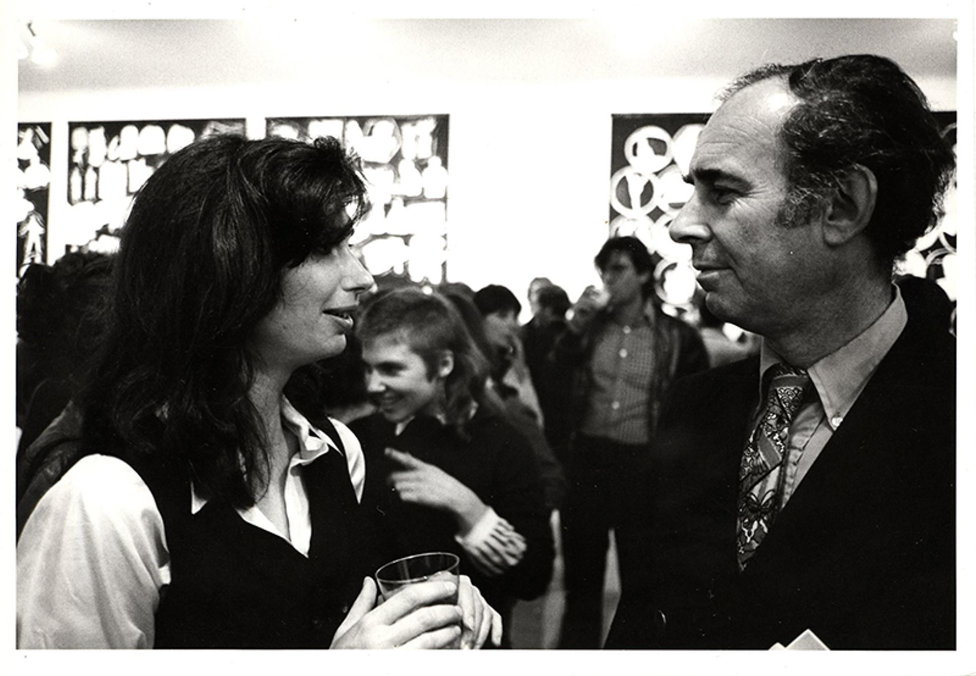 Irving Sandler with the artist Sherrie Levine at an exhibition opening at Artists Space in 1977 Courtesy Artists Space, New York