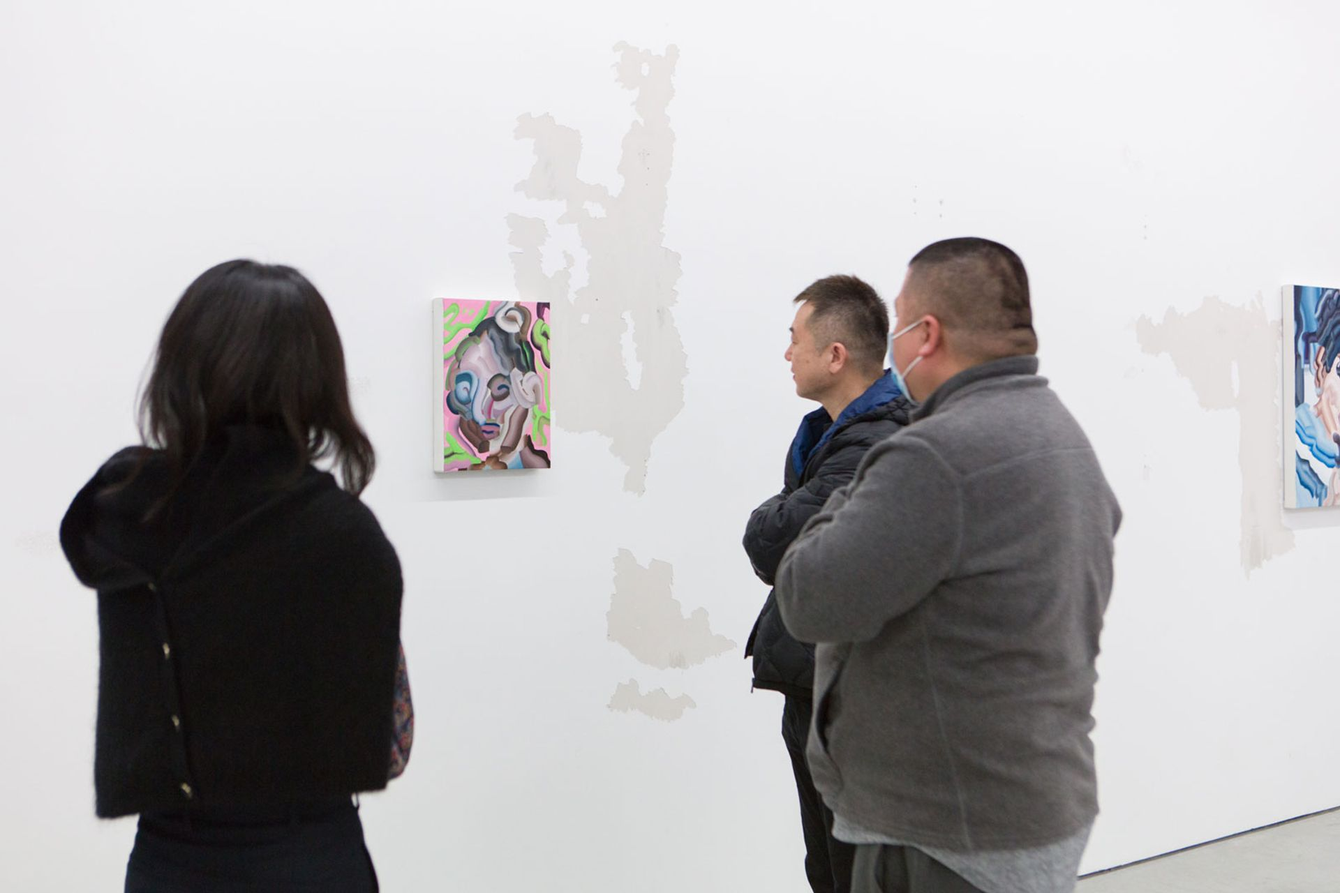 Visitors at the opening of View of Ding Li on 12 April at MadeIn Gallery, Shanghai © Madein Gallery