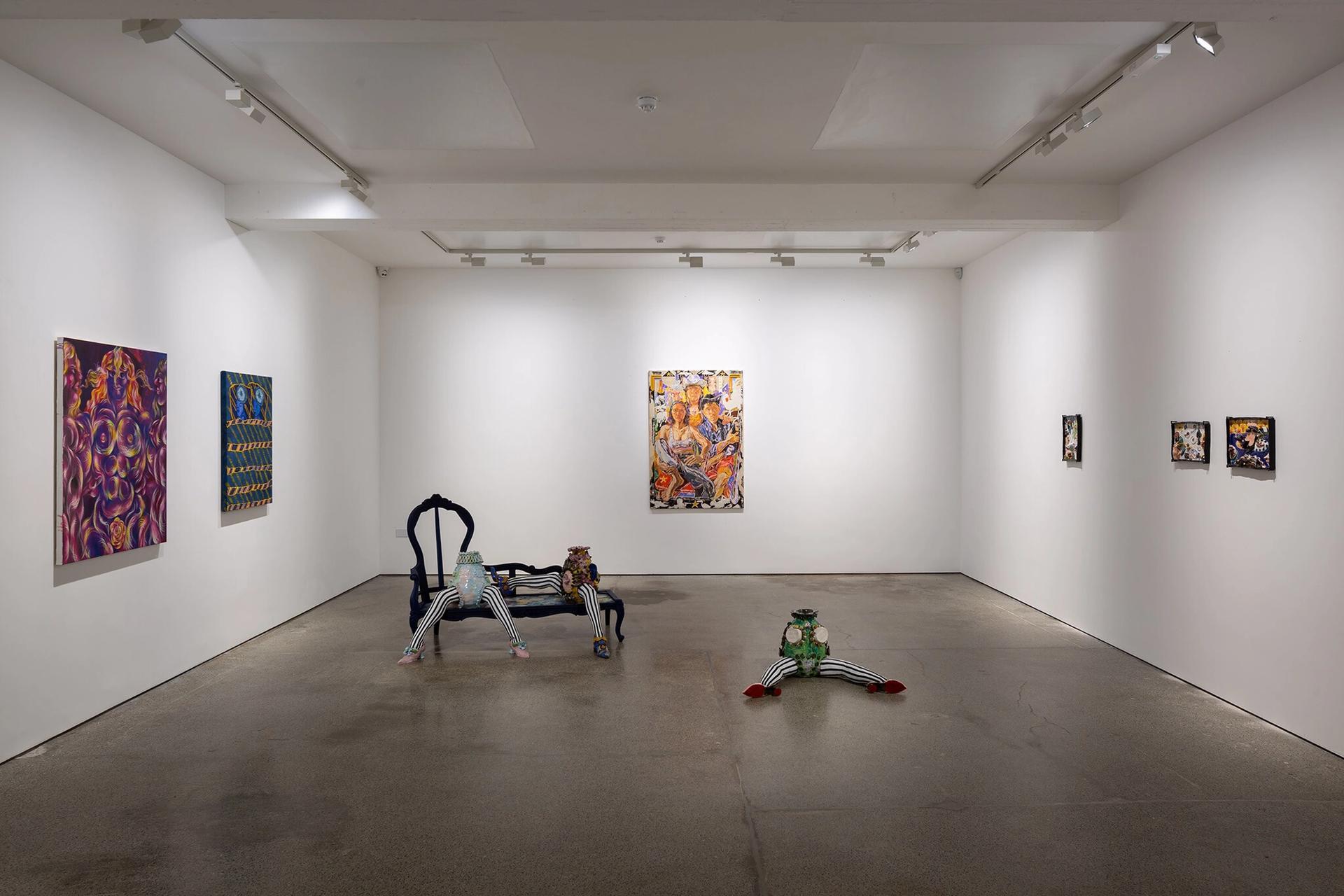 Install shot of Breakfast Under the Tree at Carl Freedman Gallery Courtesy of Carl Freedman Gallery