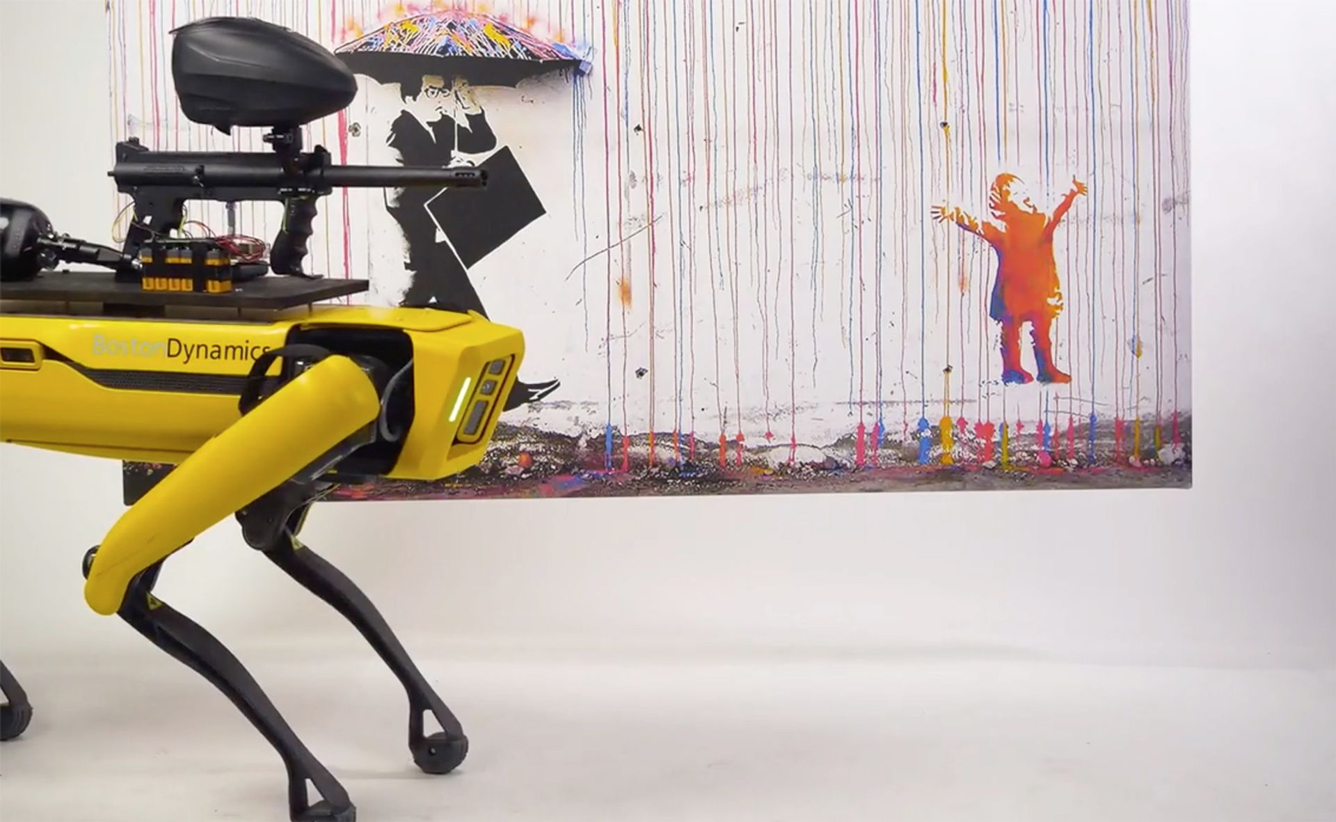 The robot dog Spot has been let loose in an art gallery Courtesy of MSCHF