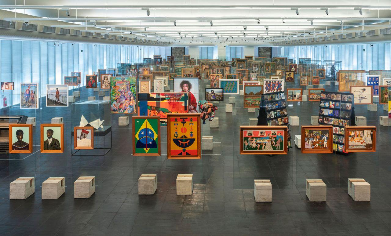 An installation view of Picture Gallery in Transformation, the long-term collection display of the Museu de Arte de São Paulo Photo: Eduardo Ortega