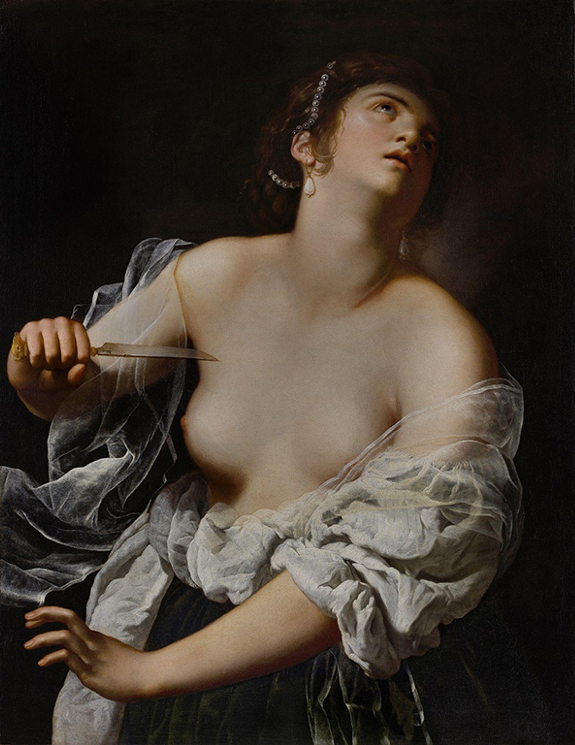 Artemisia Gentileschi's Lucretia, believed to have been painted in the late 1620s J. Paul Getty Museum