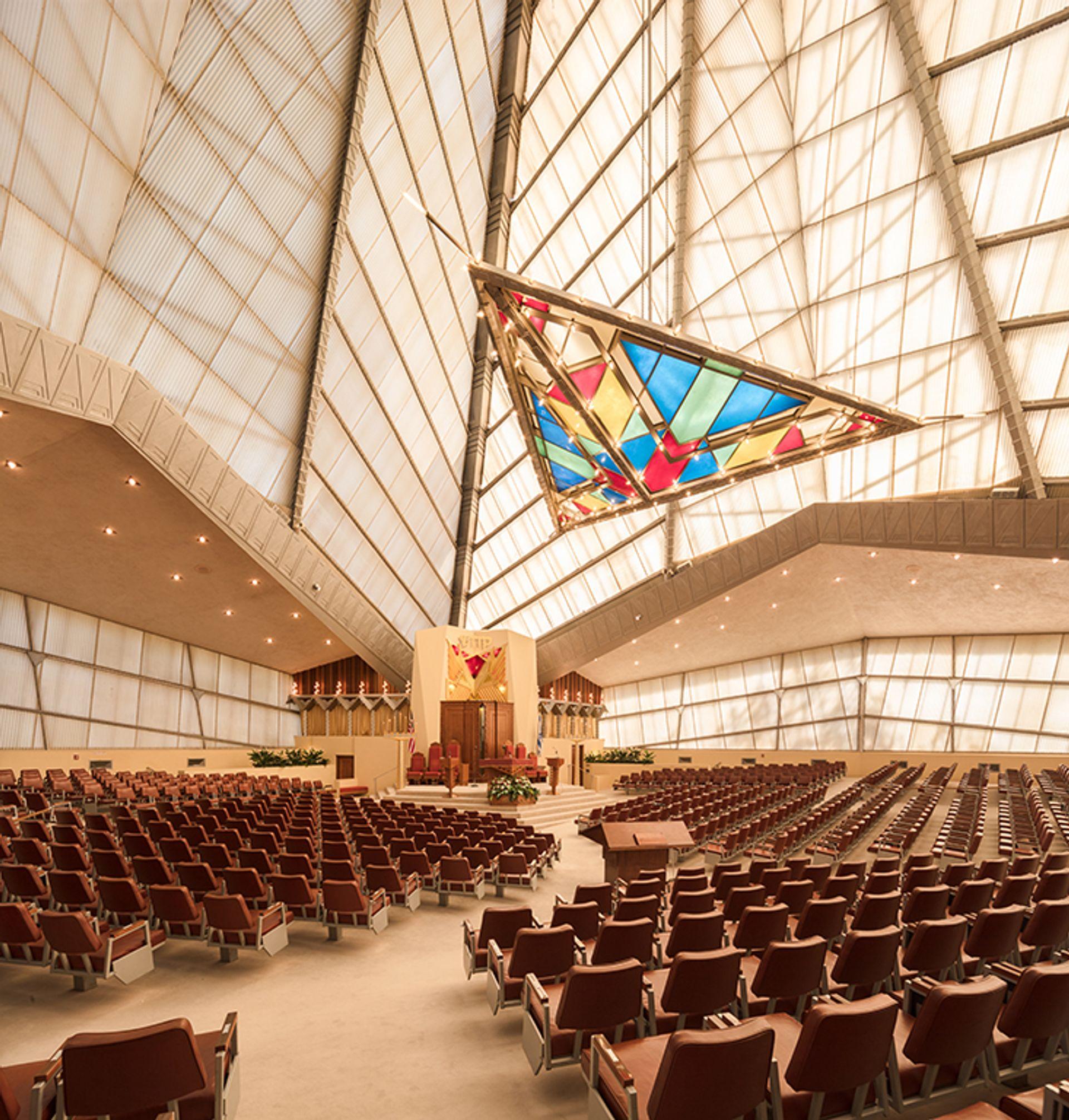 The interior of Beth Sholom Synagogue in Elkins Park, Pennsylvania ©2013 Darren Bradley