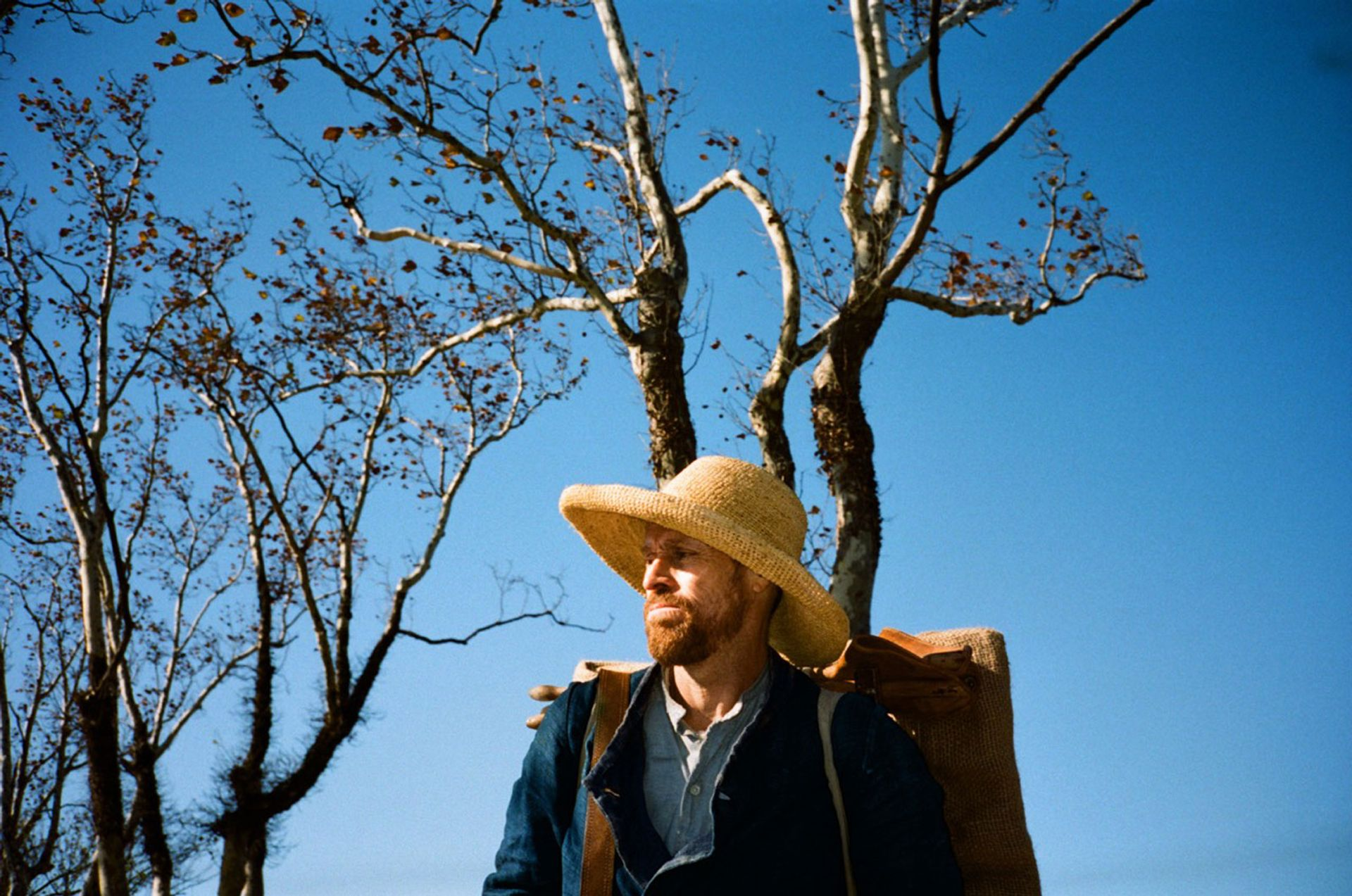 Willem Dafoe plays Vincent van Gogh in Julian Schnabel's new film, At Eternity's Gate Courtesy of Curzon
