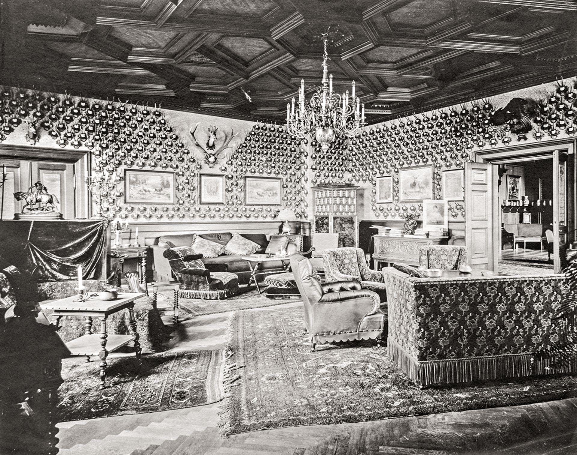 Franz Ferdinand's Krickelsalon (chamois horn room) in his country seat of Konopiště in the Czech Republic